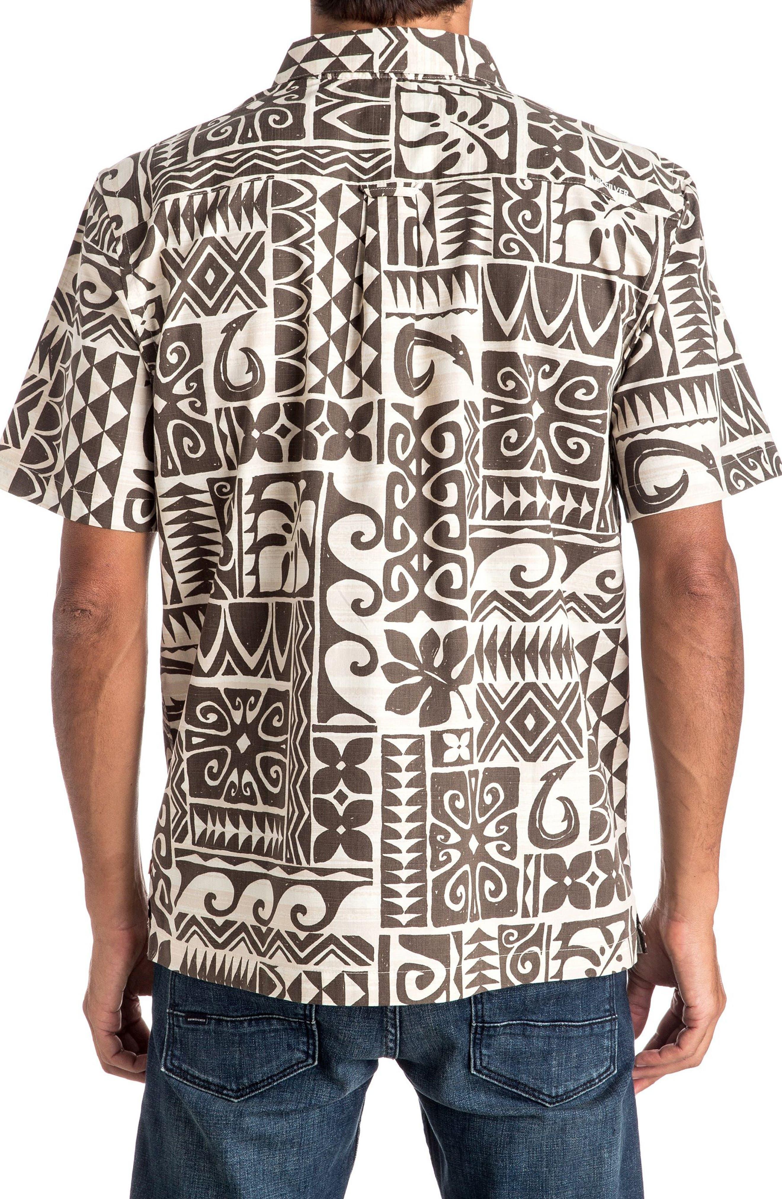 Alternate Image 2  - Quiksilver Waterman Collection Cooks Regular Fit Print Sport Shirt