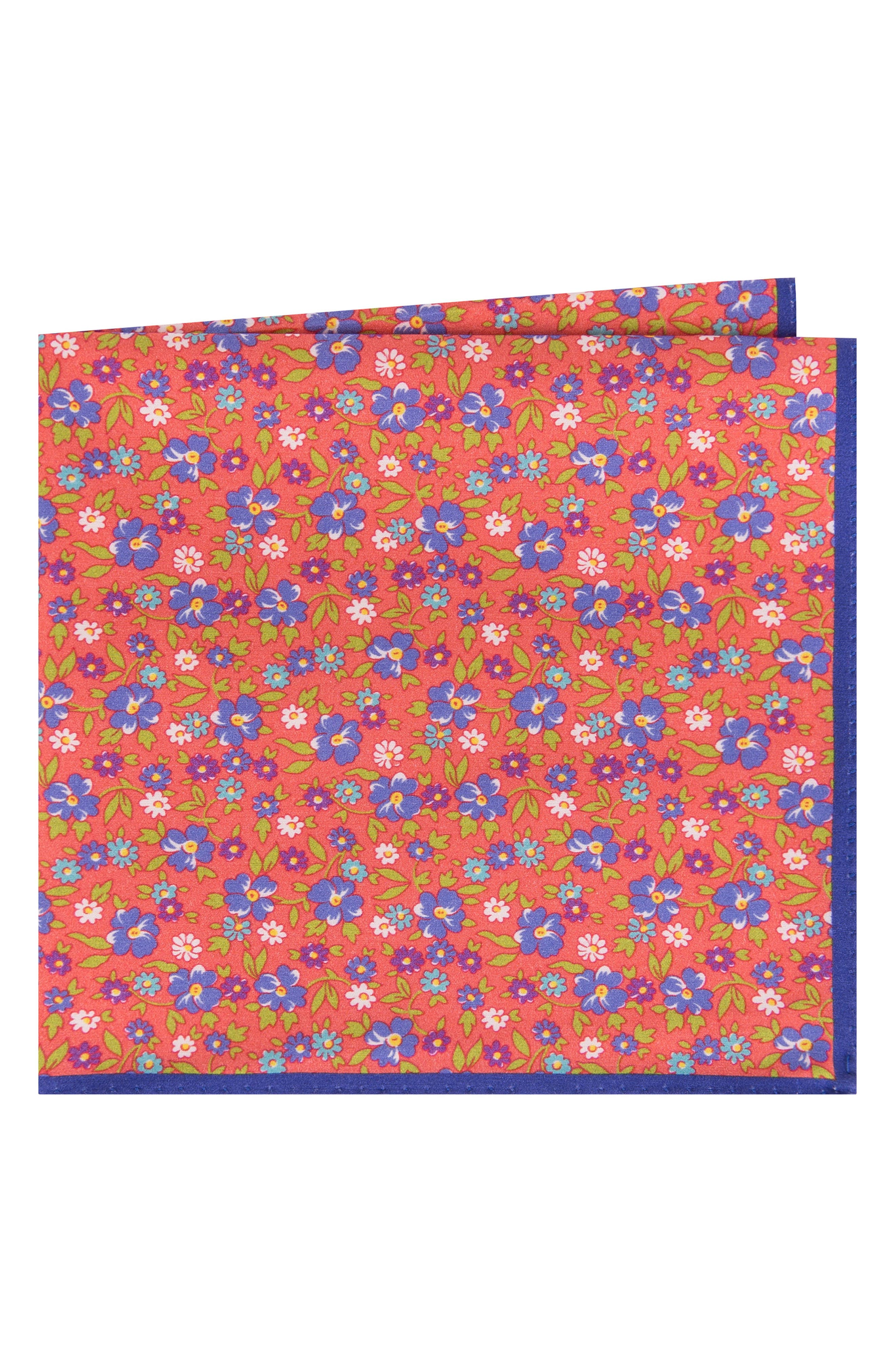 Main Image - Ted Baker London Floral Cotton & Silk Pocket Square