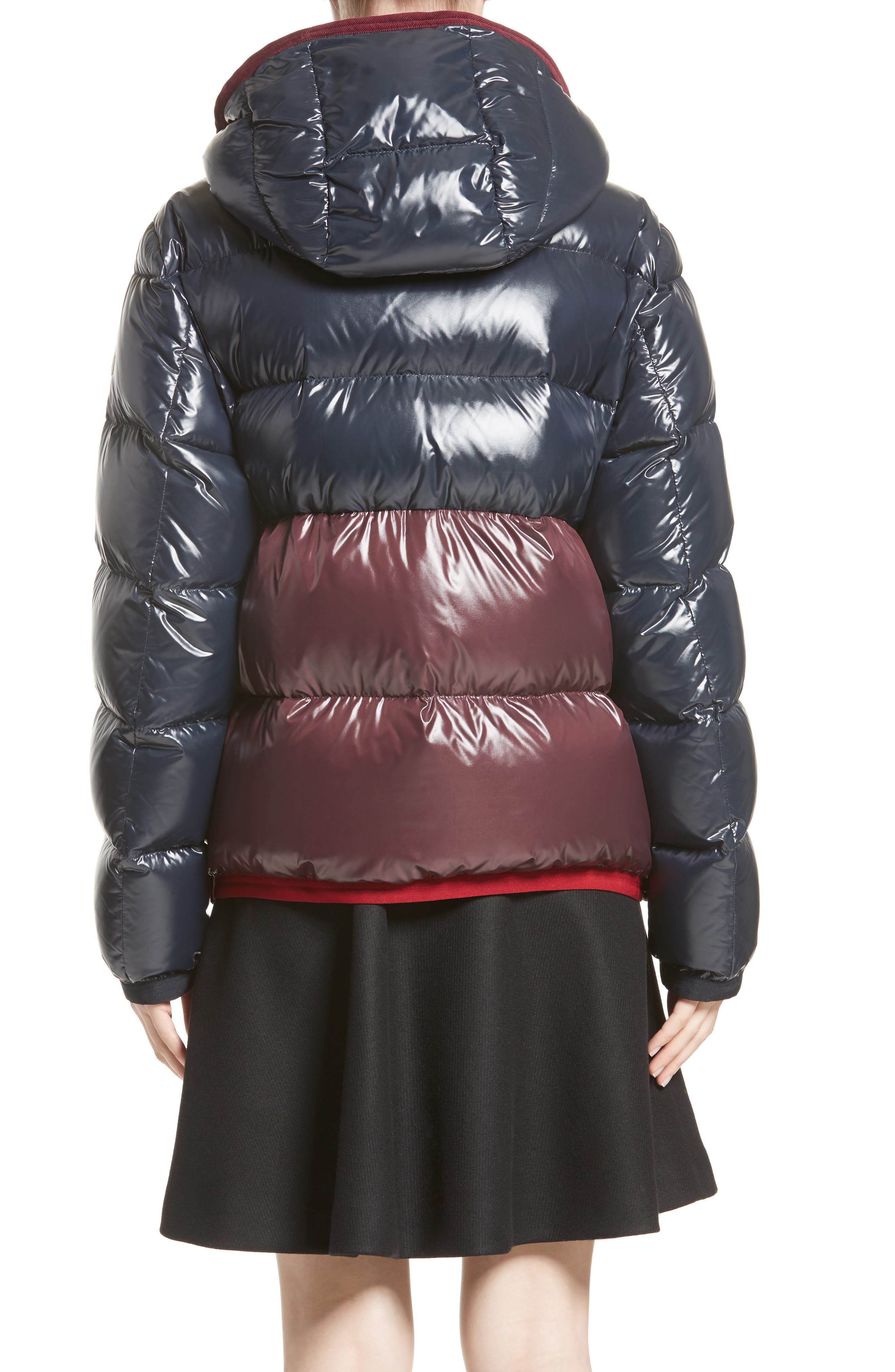 Cotinus Hooded Down Puffer Jacket,                             Alternate thumbnail 2, color,                             Navy/ Burgundy