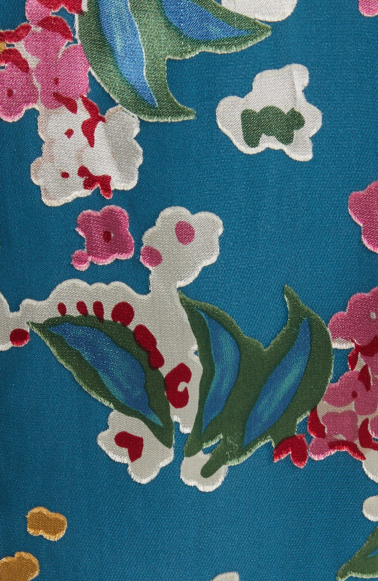 Alternate Image 5  - SALONI Lorna Print Ruffle Hem Midi Dress