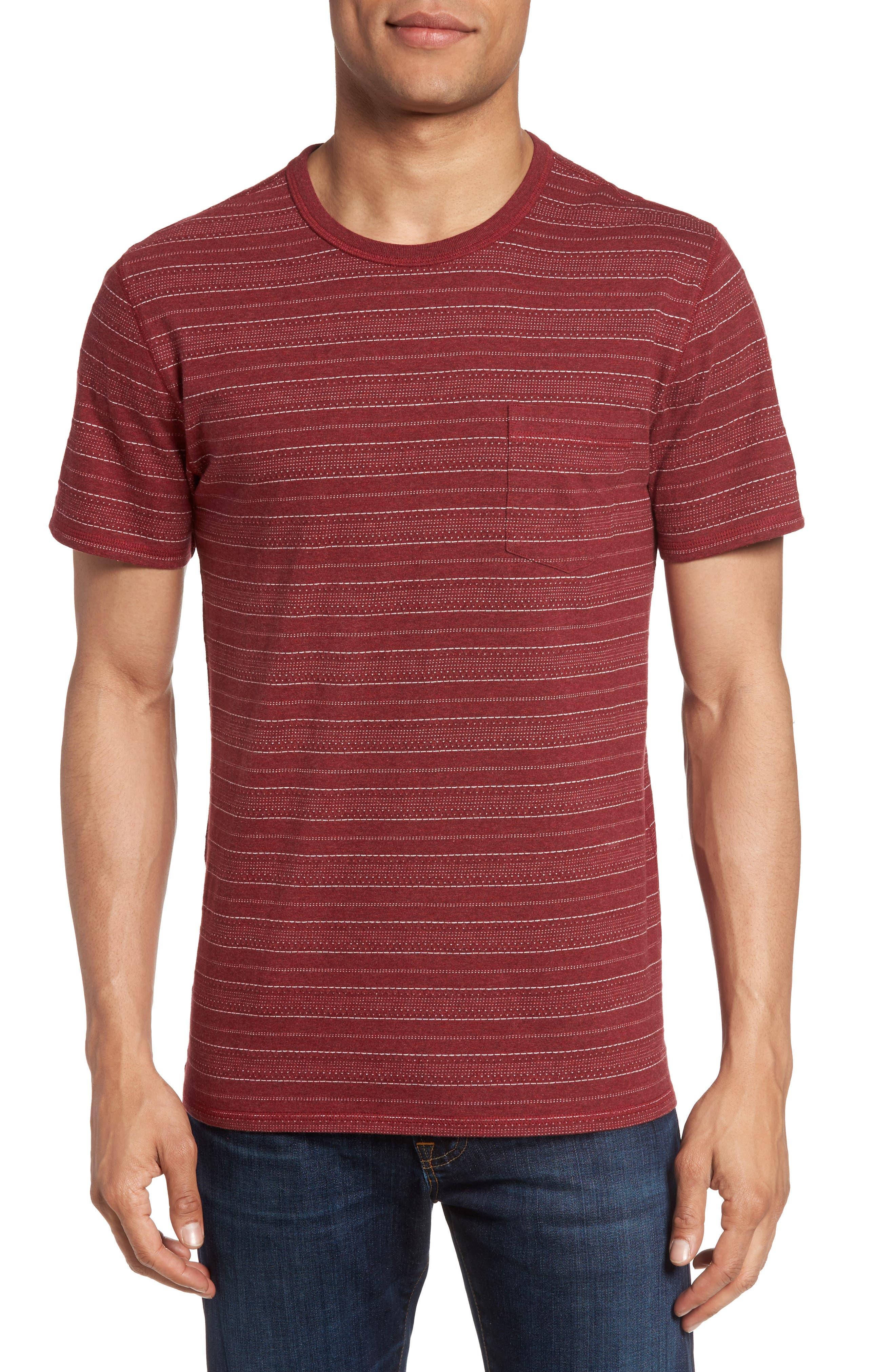 Main Image - 1901 Jacquard Stripe T-Shirt