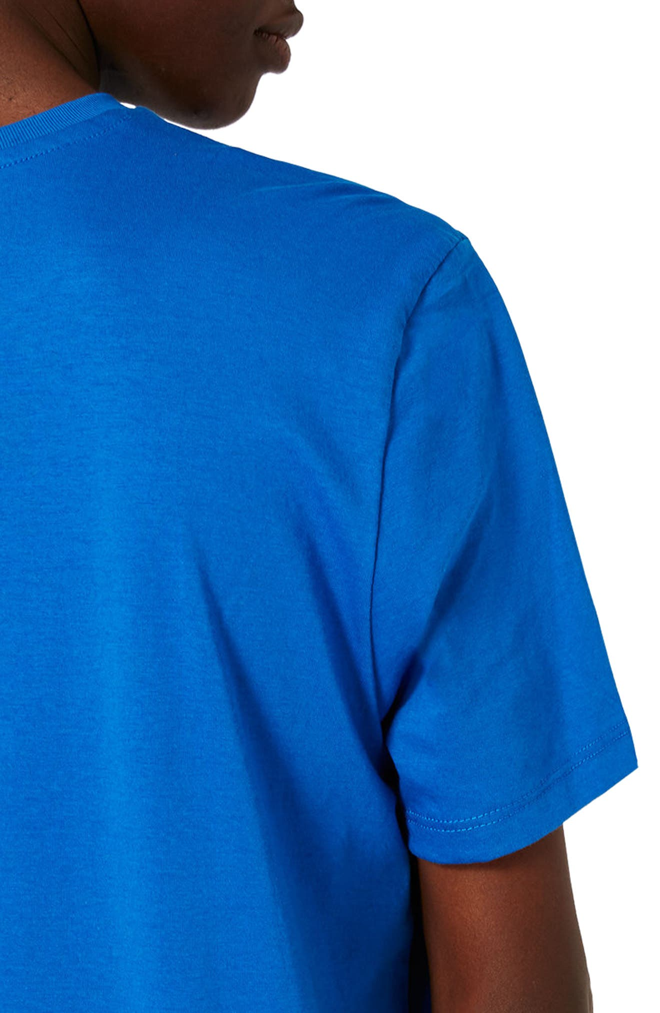 Slim Fit Crewneck T-Shirt,                             Alternate thumbnail 3, color,                             Brilliant Blue