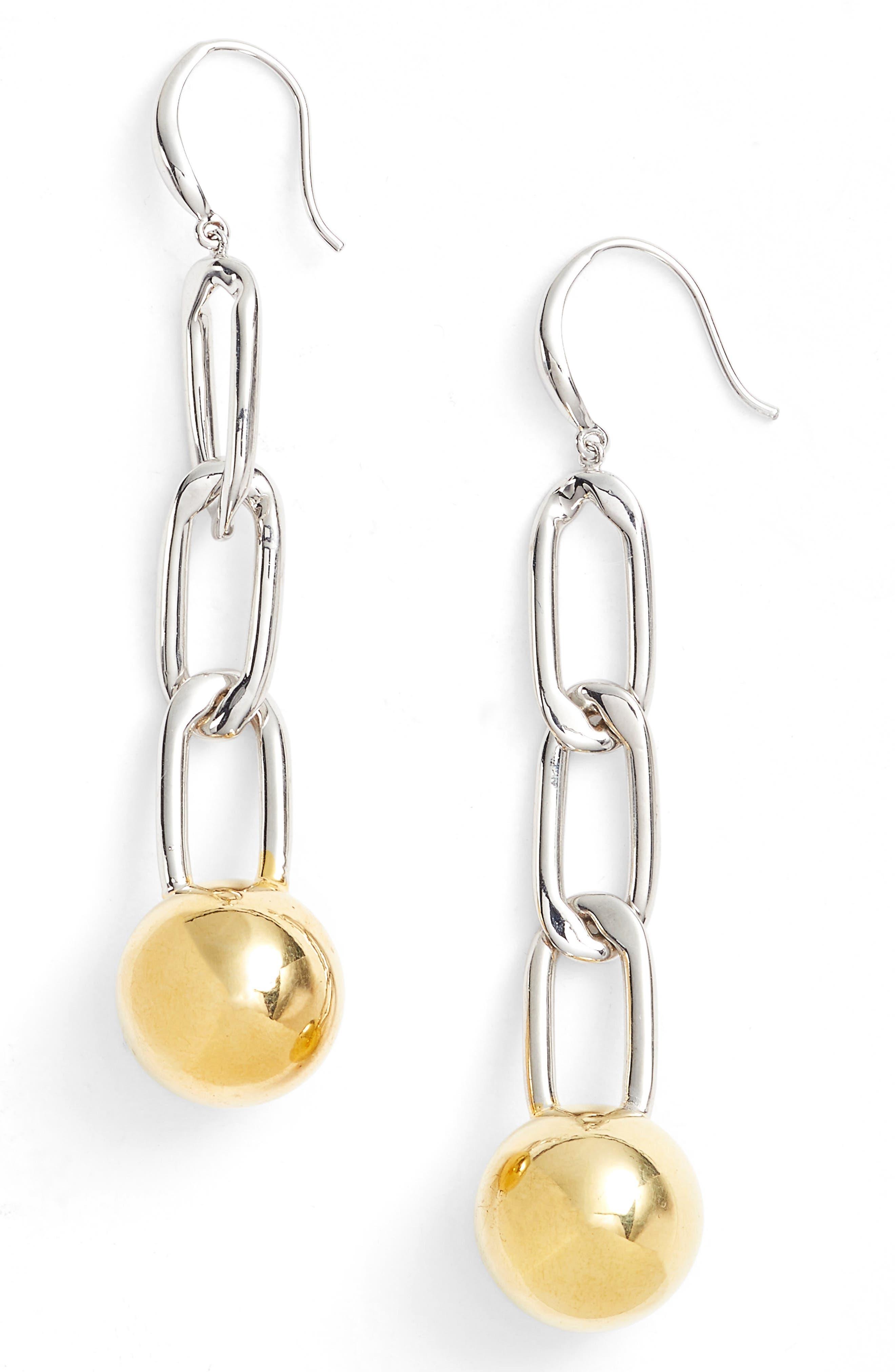Argento Vivo Chain Ball Drop Earrings