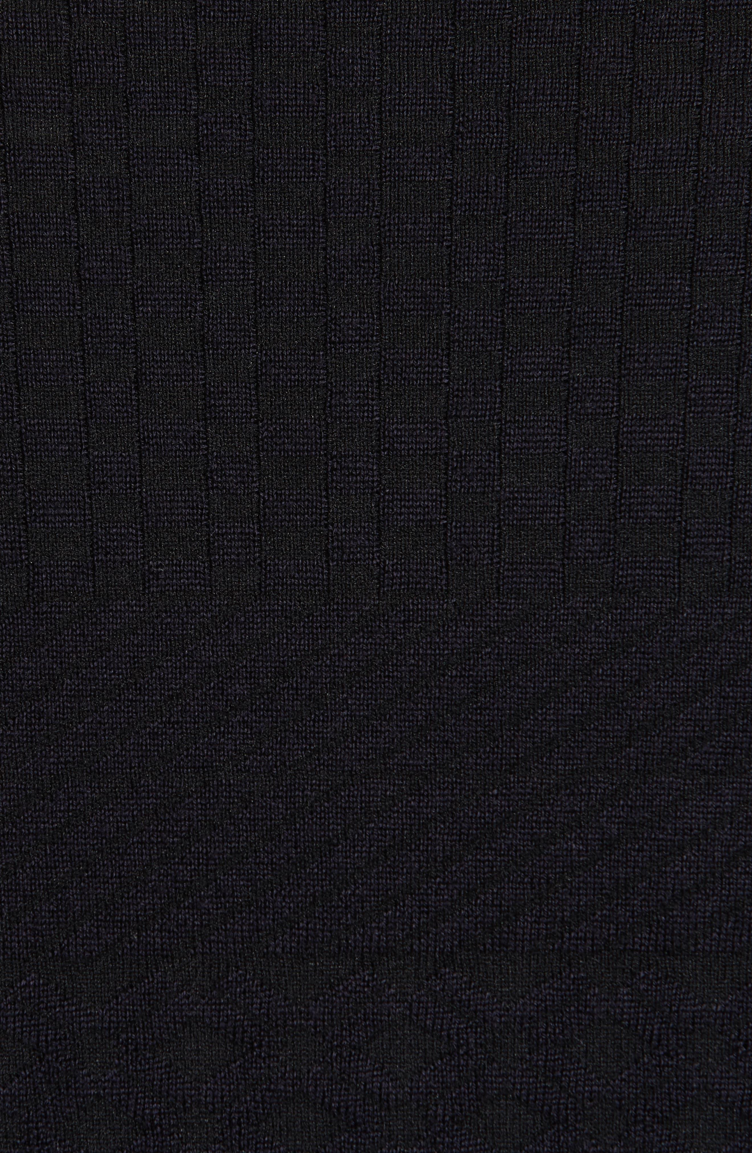 Alternate Image 5  - Armani Collezioni Full Zip Jacquard Sweater