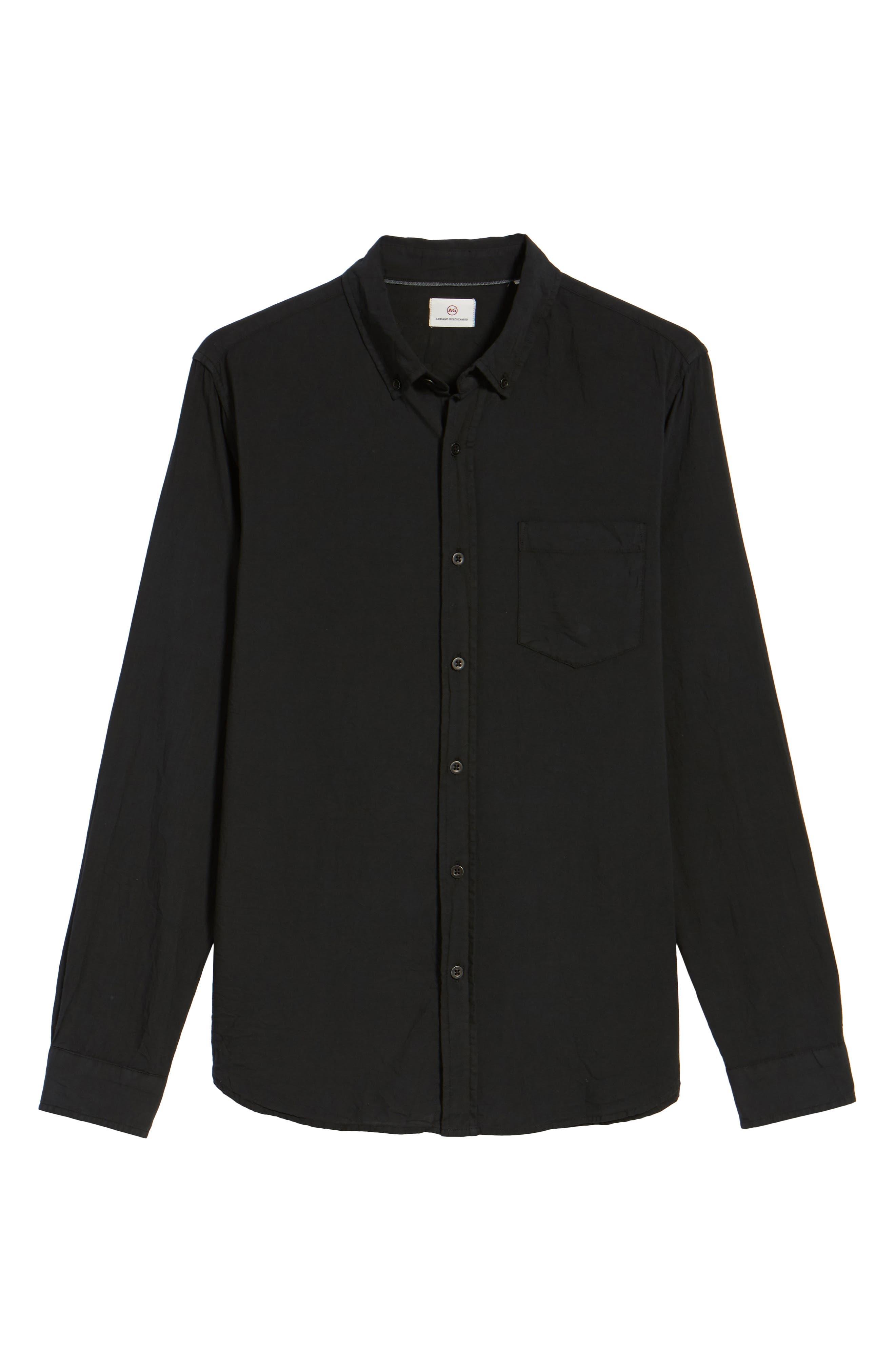 Alternate Image 5  - AG Grady Slim Fit Organic Cotton Sport Shirt