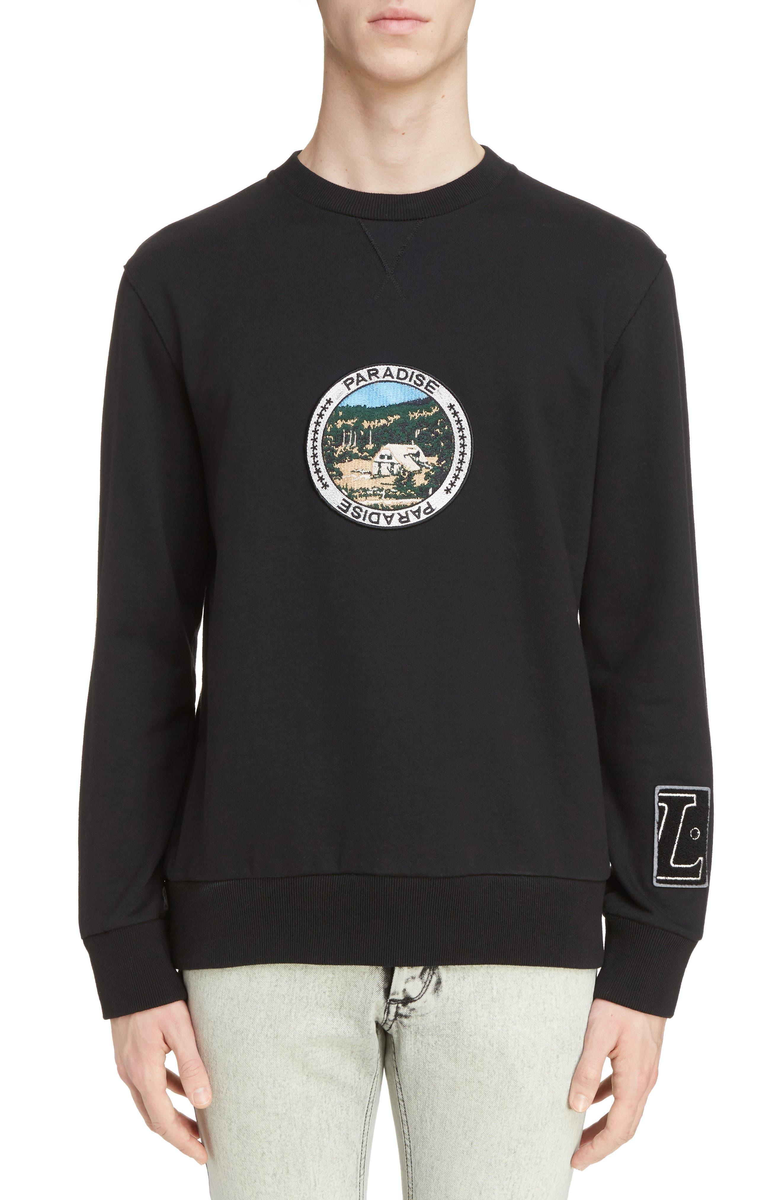 Paradise Patch Sweatshirt,                             Main thumbnail 1, color,                             Black