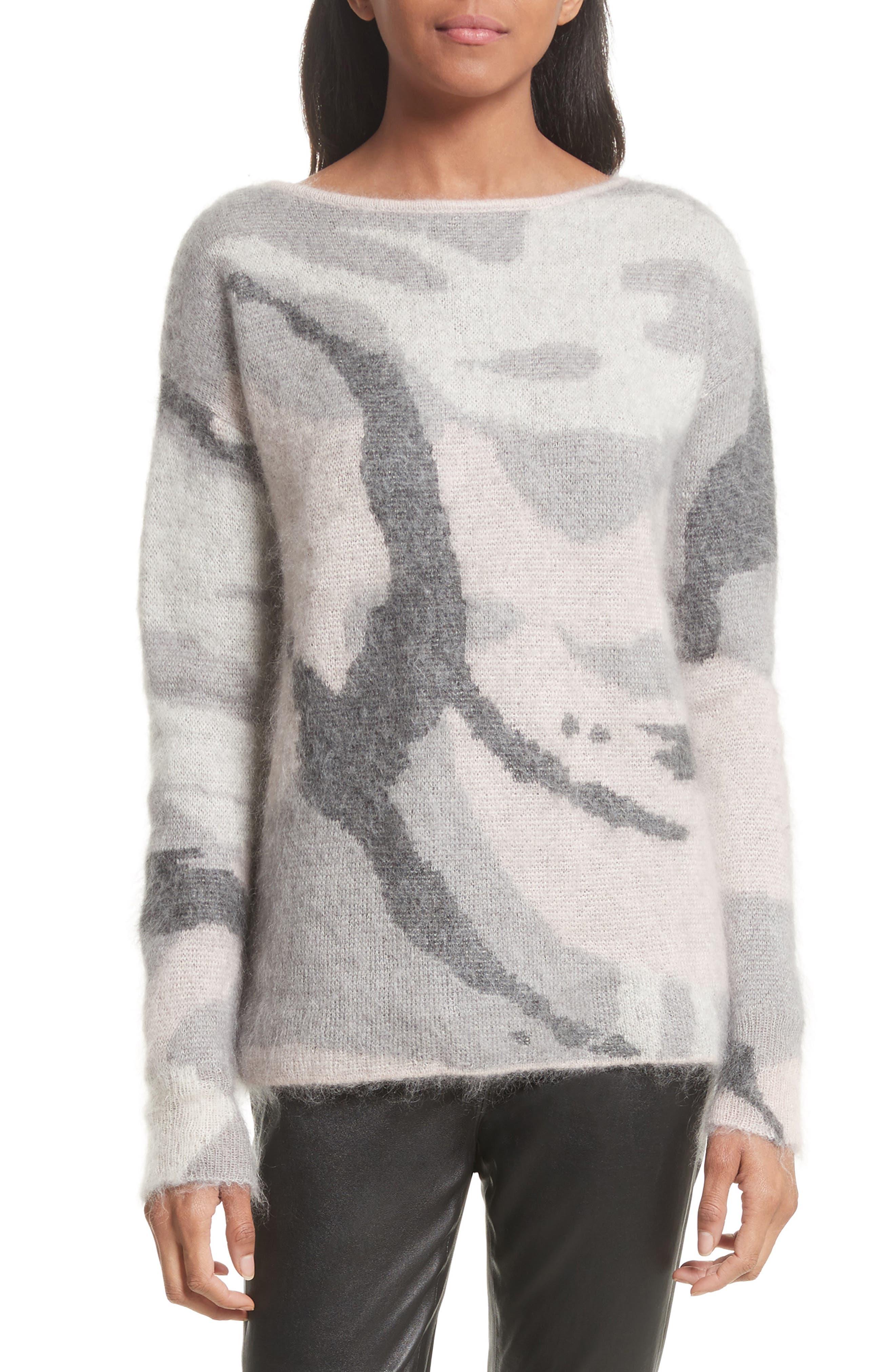 Main Image - rag & bone Sinclair Camouflage Jacquard Sweater