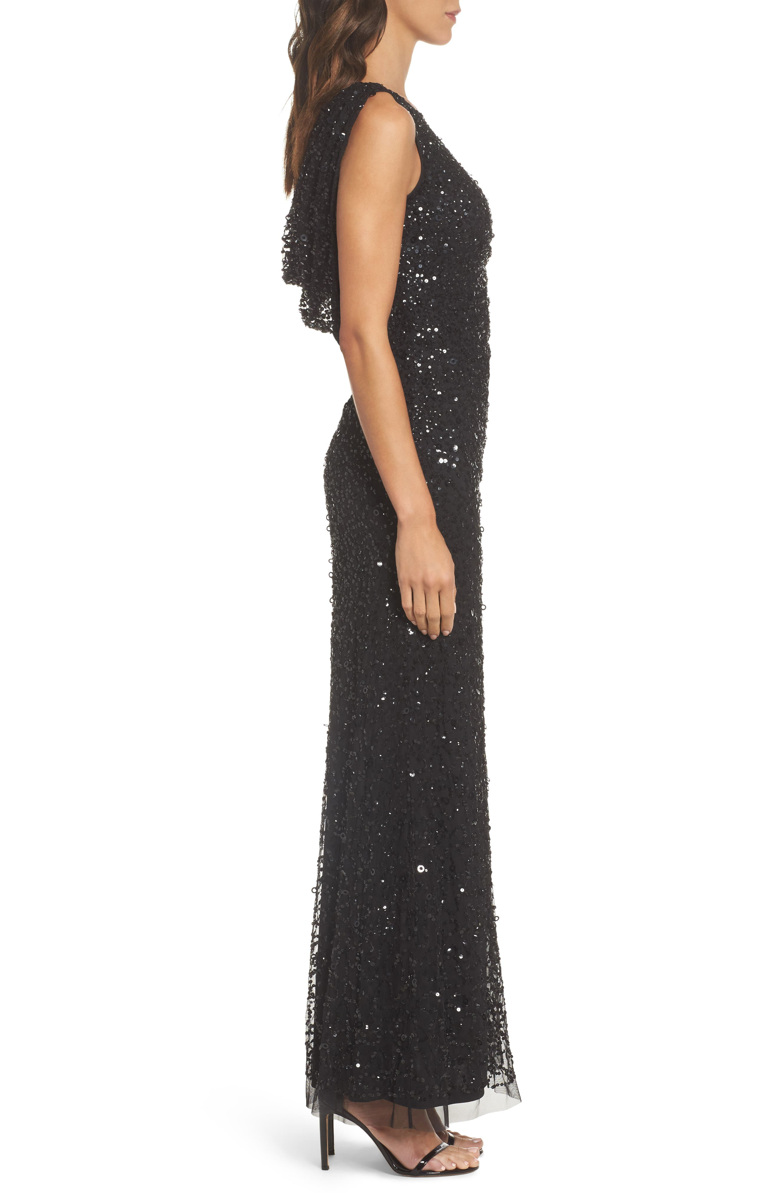 Alternate Image 3  - Adrianna Papell Drape Back Gown