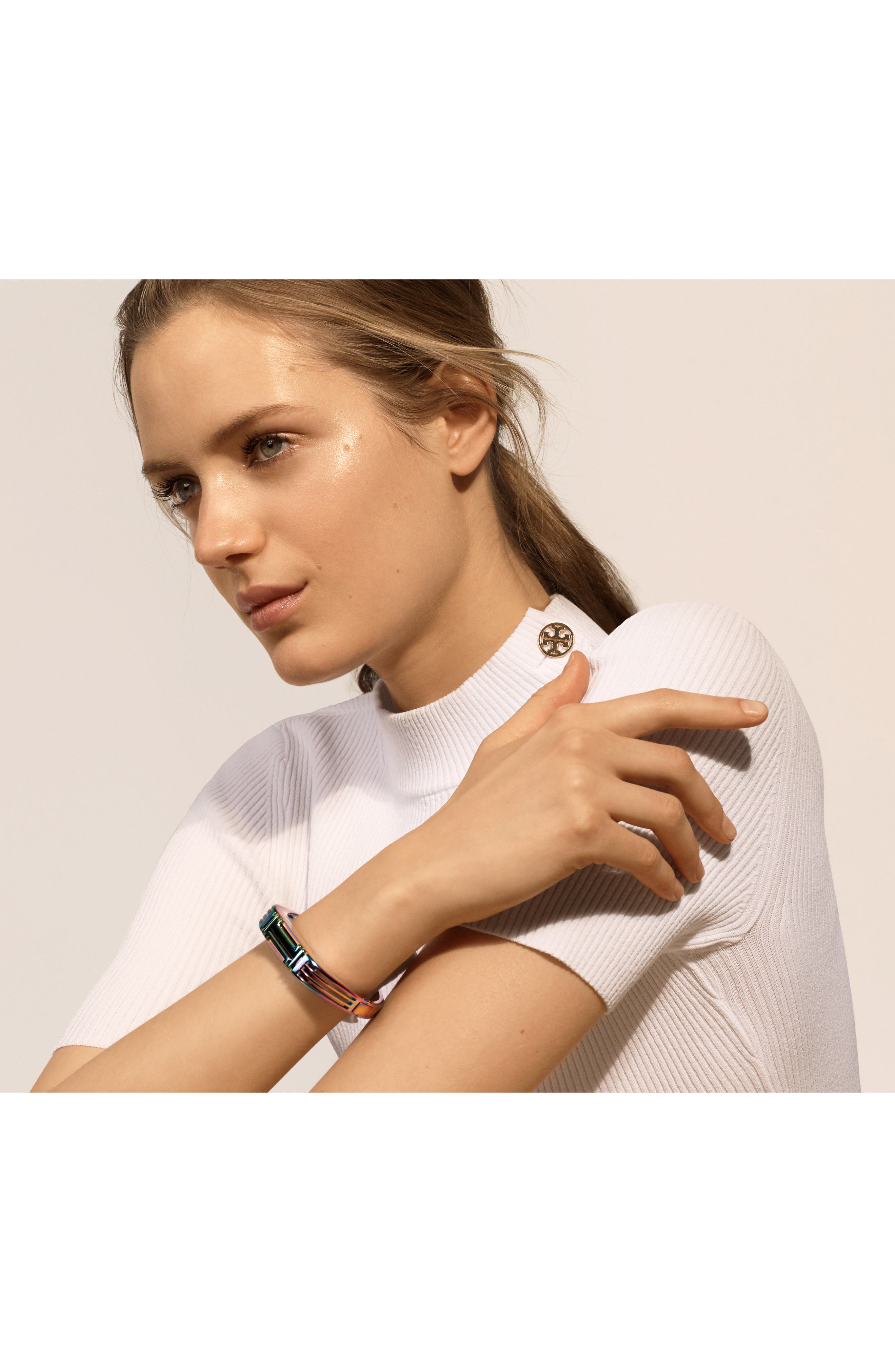 Alternate Image 4  - Tory Burch for Fitbit® Hinge Bracelet