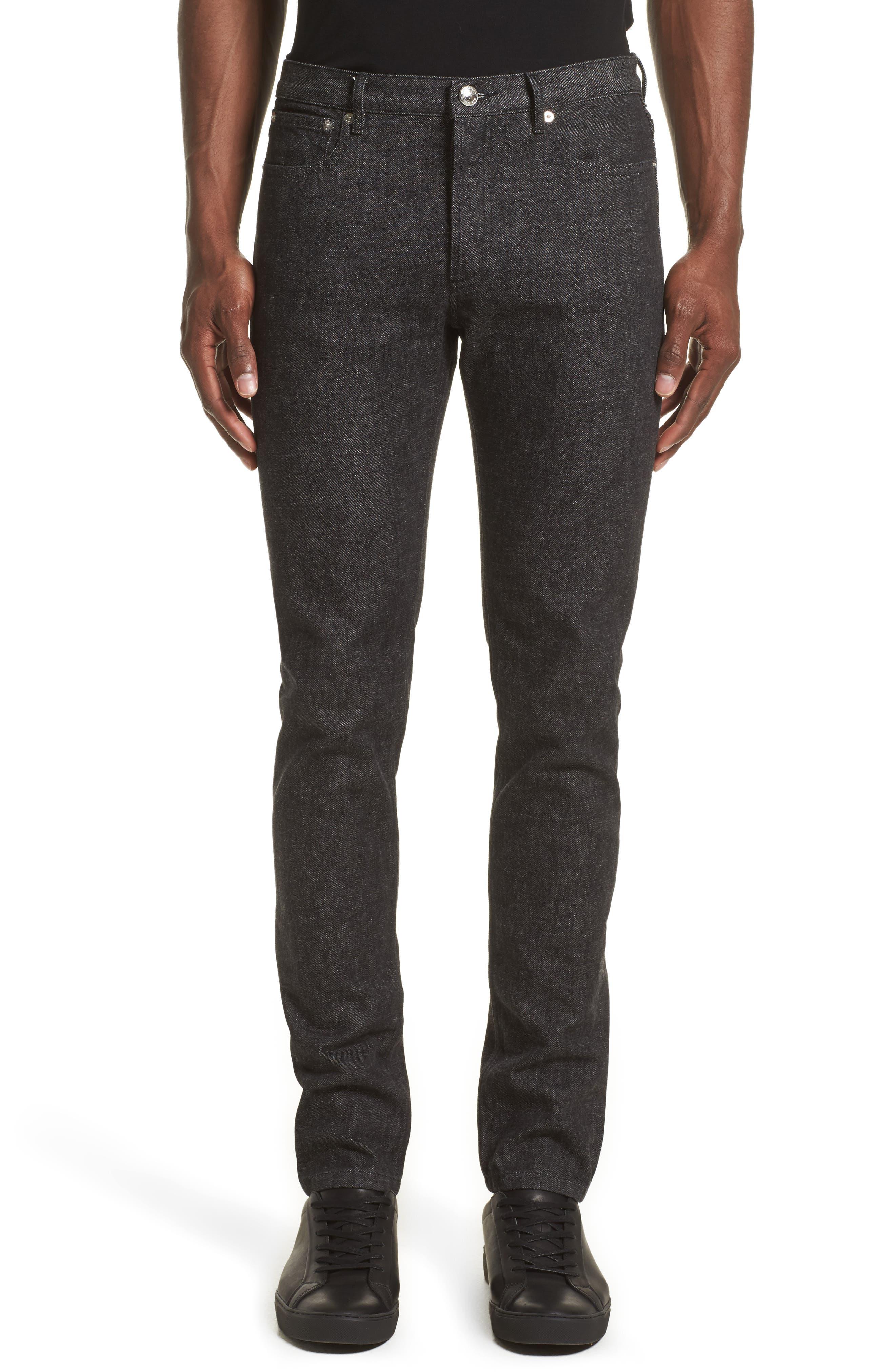 Petite New Standard Jeans,                             Main thumbnail 1, color,                             Faux Noir