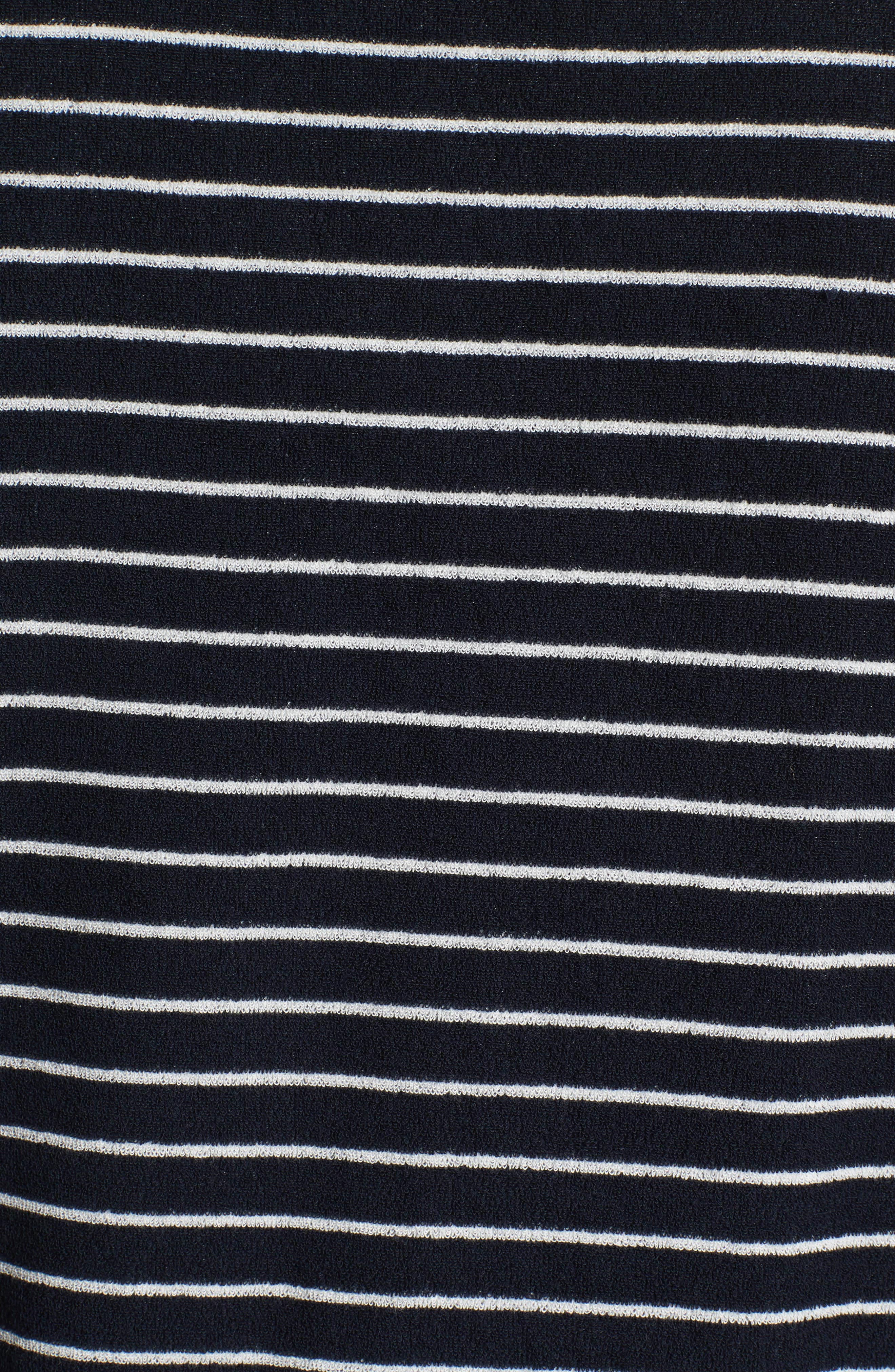 Yogi Striped Terry Sweatshirt,                             Alternate thumbnail 5, color,                             Dark Navy