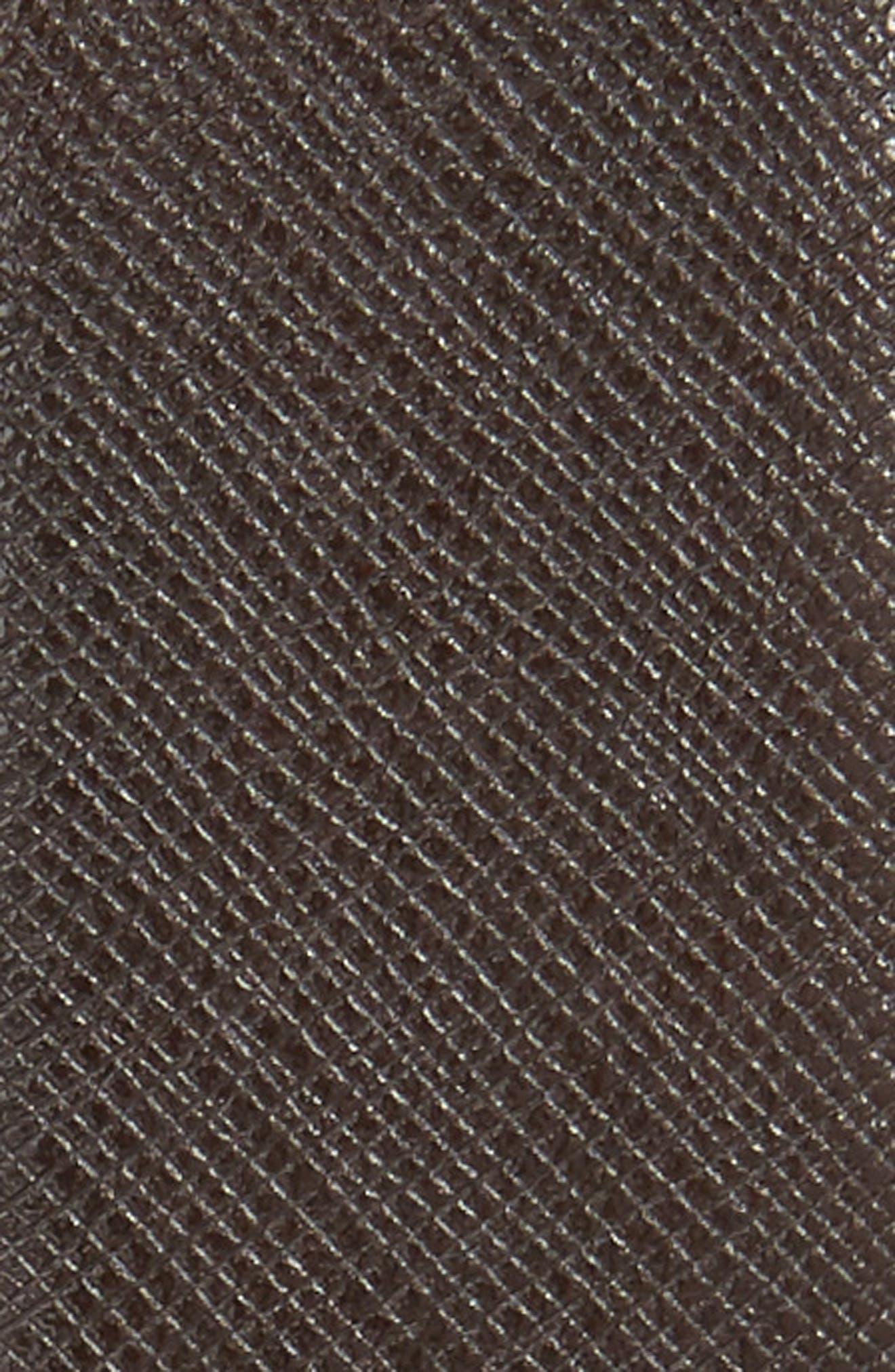 Reversible Leather Belt,                             Alternate thumbnail 3, color,                             Chocolate/ Black