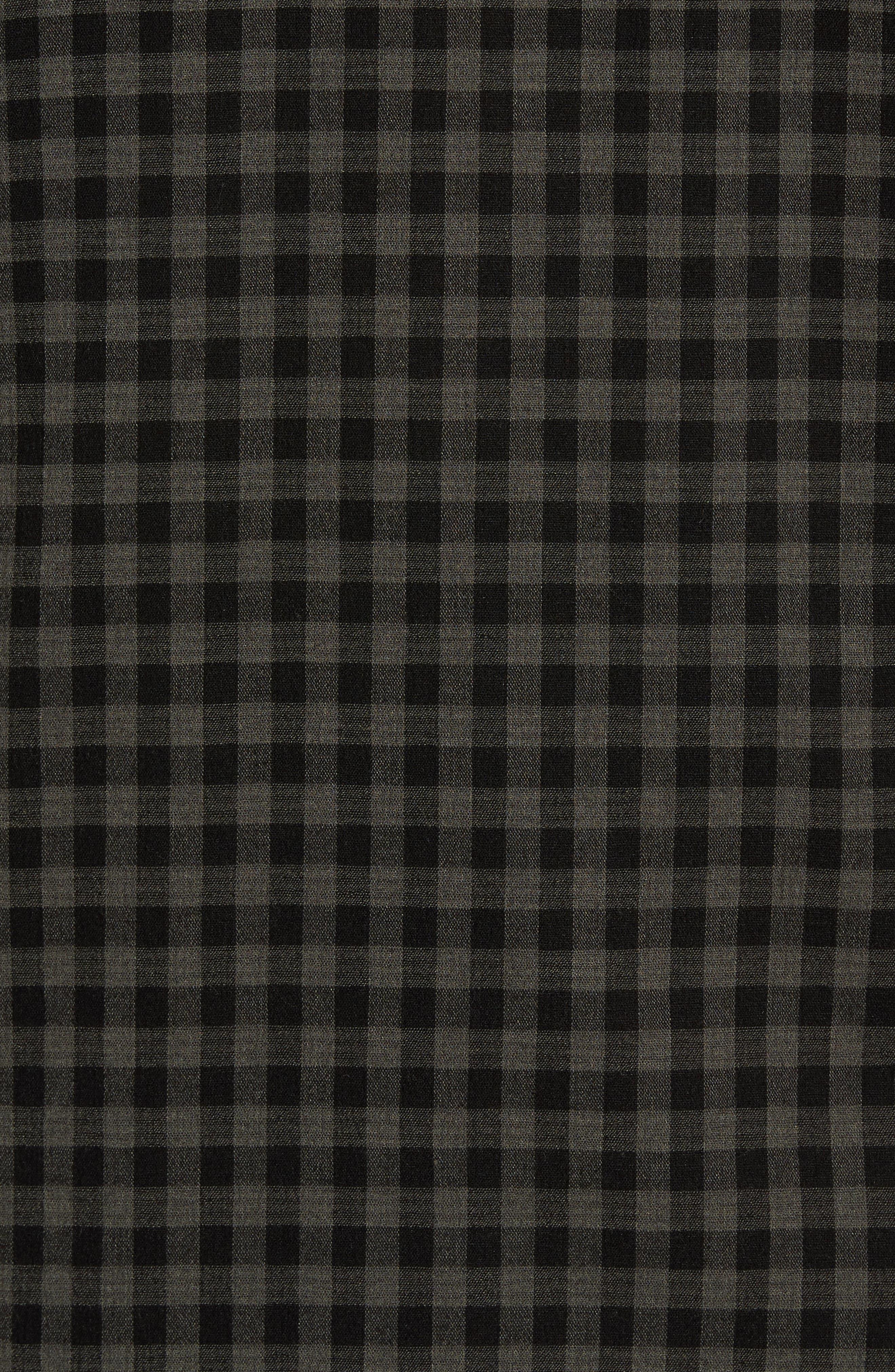 Gingham Check Blouse,                             Alternate thumbnail 5, color,                             Olive/ Black Gingham