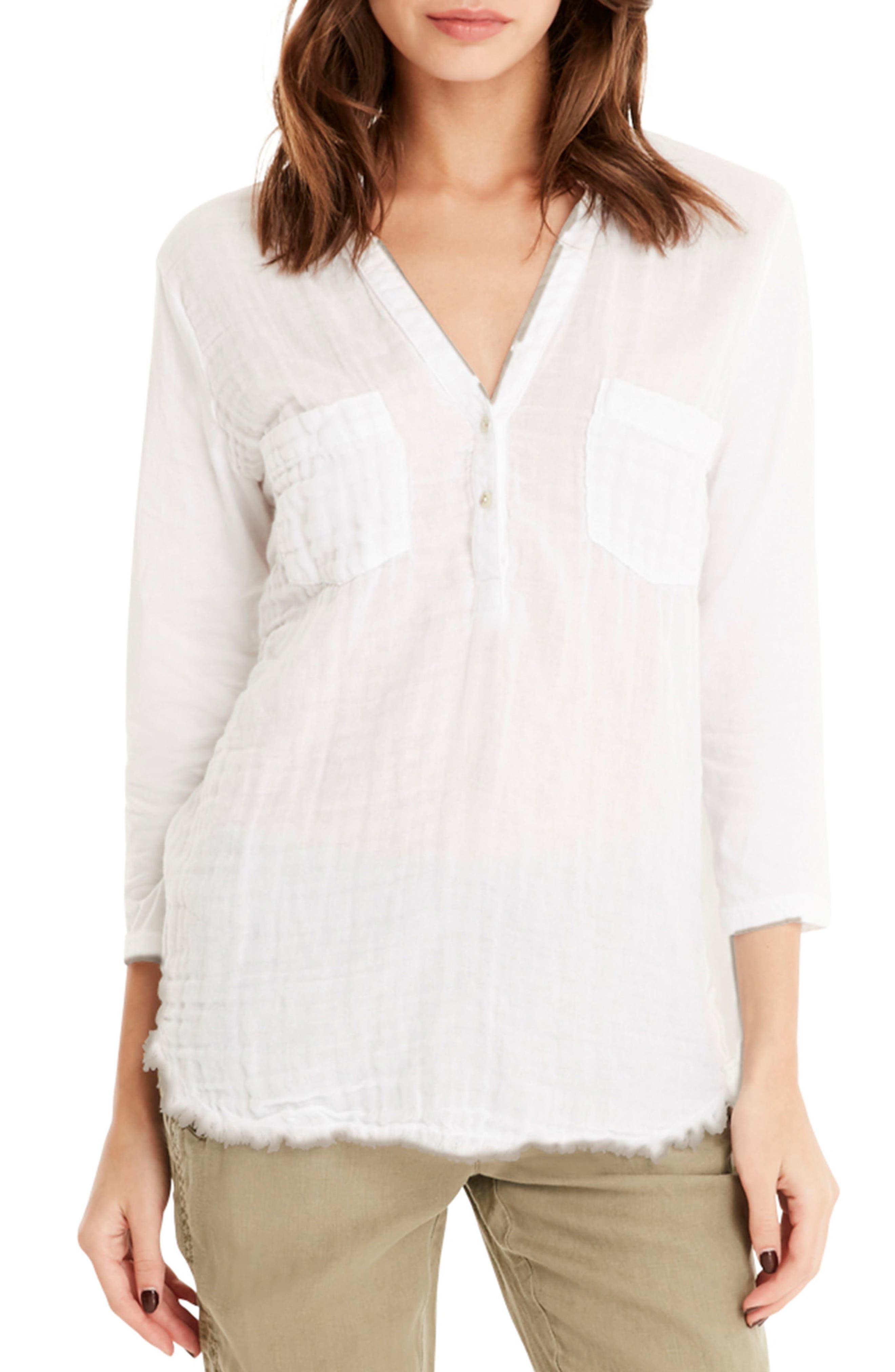 Cotton Tunic,                             Main thumbnail 1, color,                             White