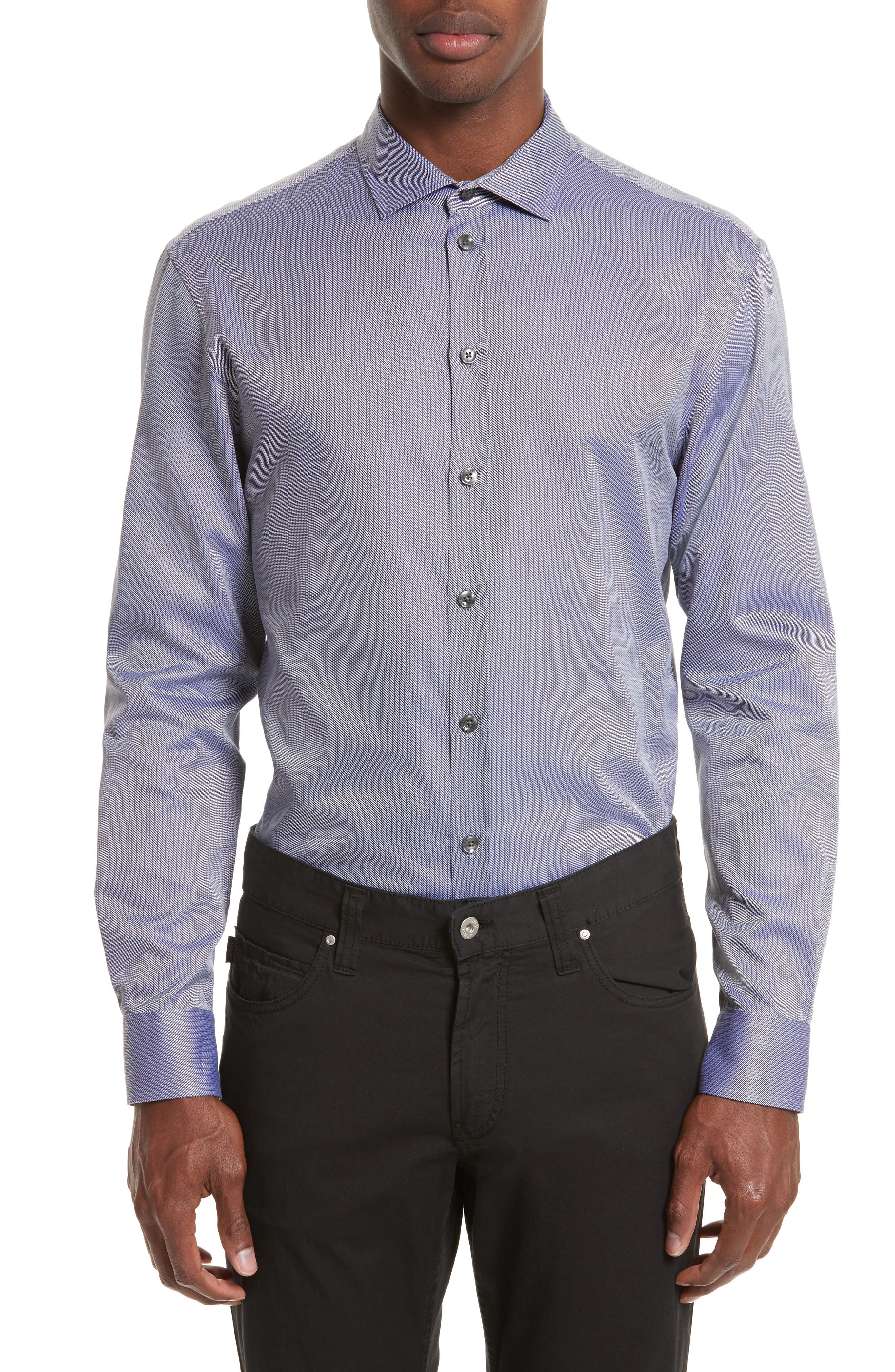 Alternate Image 1 Selected - Armani Collezioni Regular Fit Print Sport Shirt