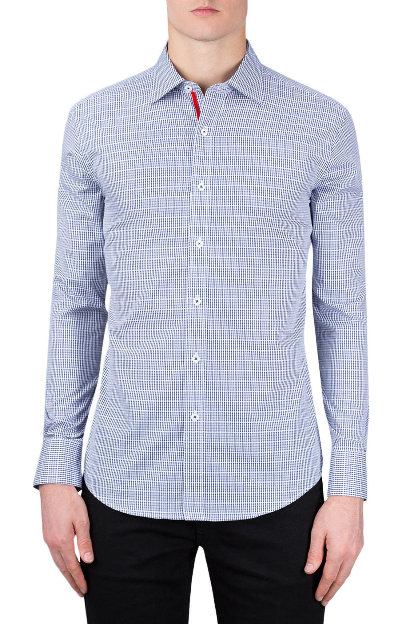 Main Image - Bugatchi Classic Fit Check Sport Shirt