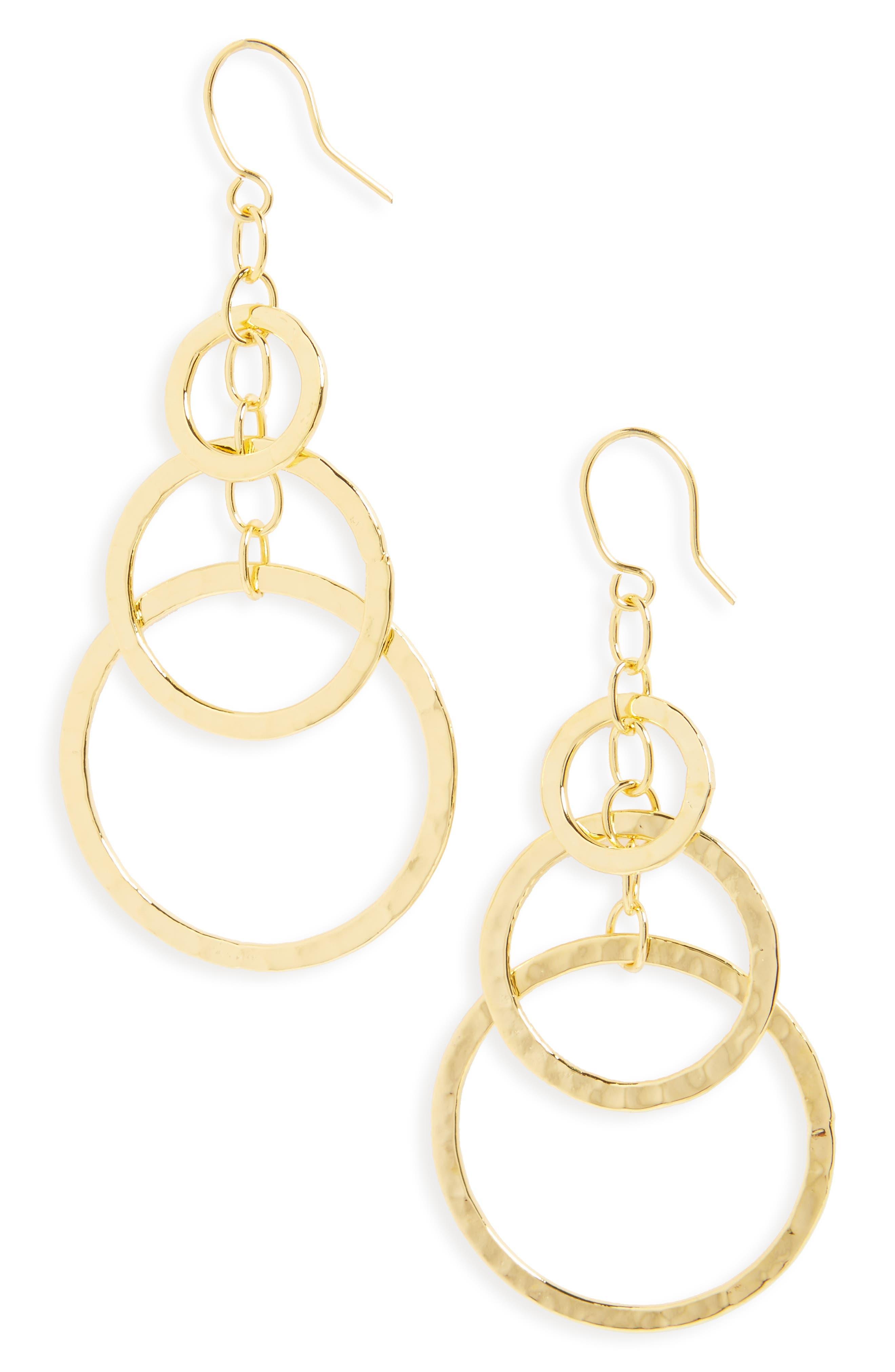 ARGENTO VIVO Circle Drop Earrings