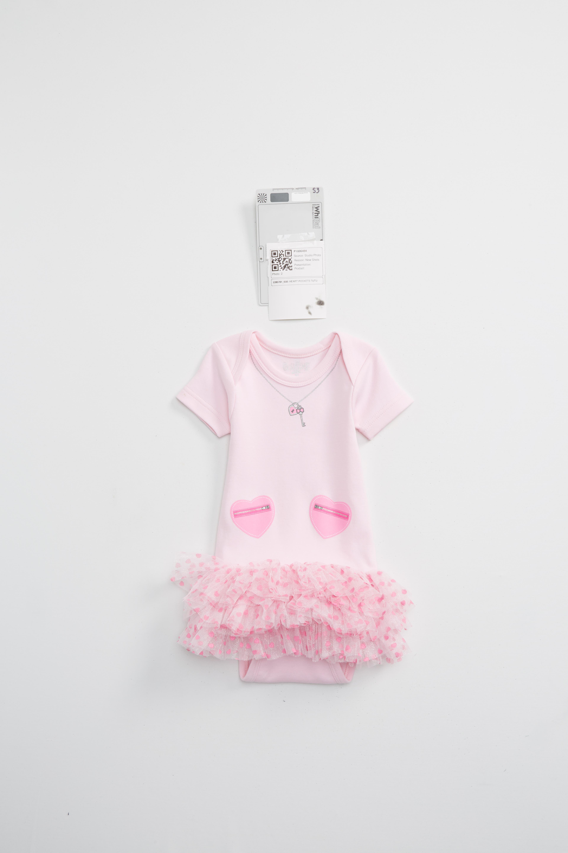 Sara Kety Baby & Kids Heart Pocket Tutu Bodysuit (Baby Girls)