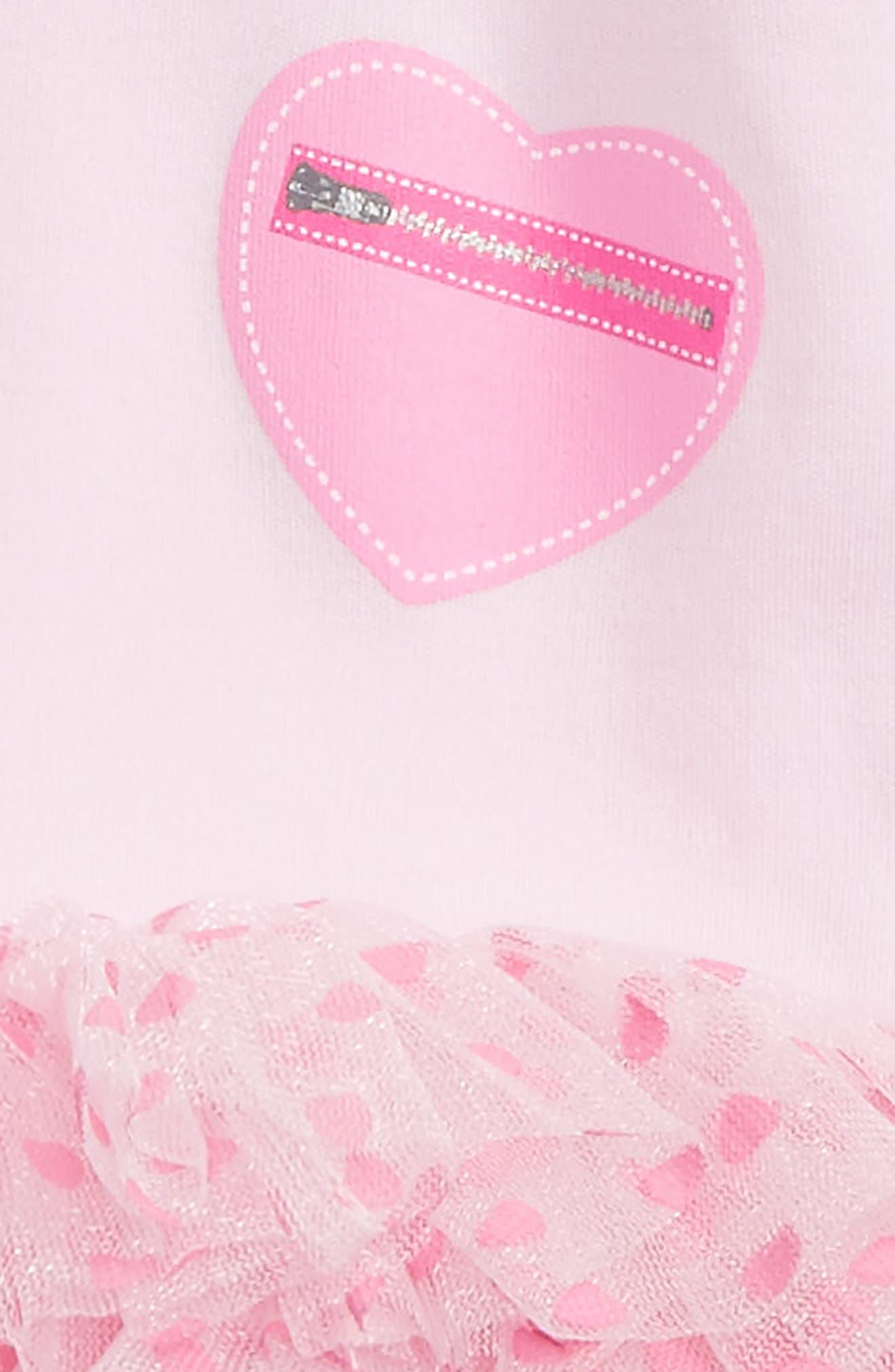 Alternate Image 3  - Sara Kety Baby & Kids Heart Pocket Tutu Bodysuit (Baby Girls)