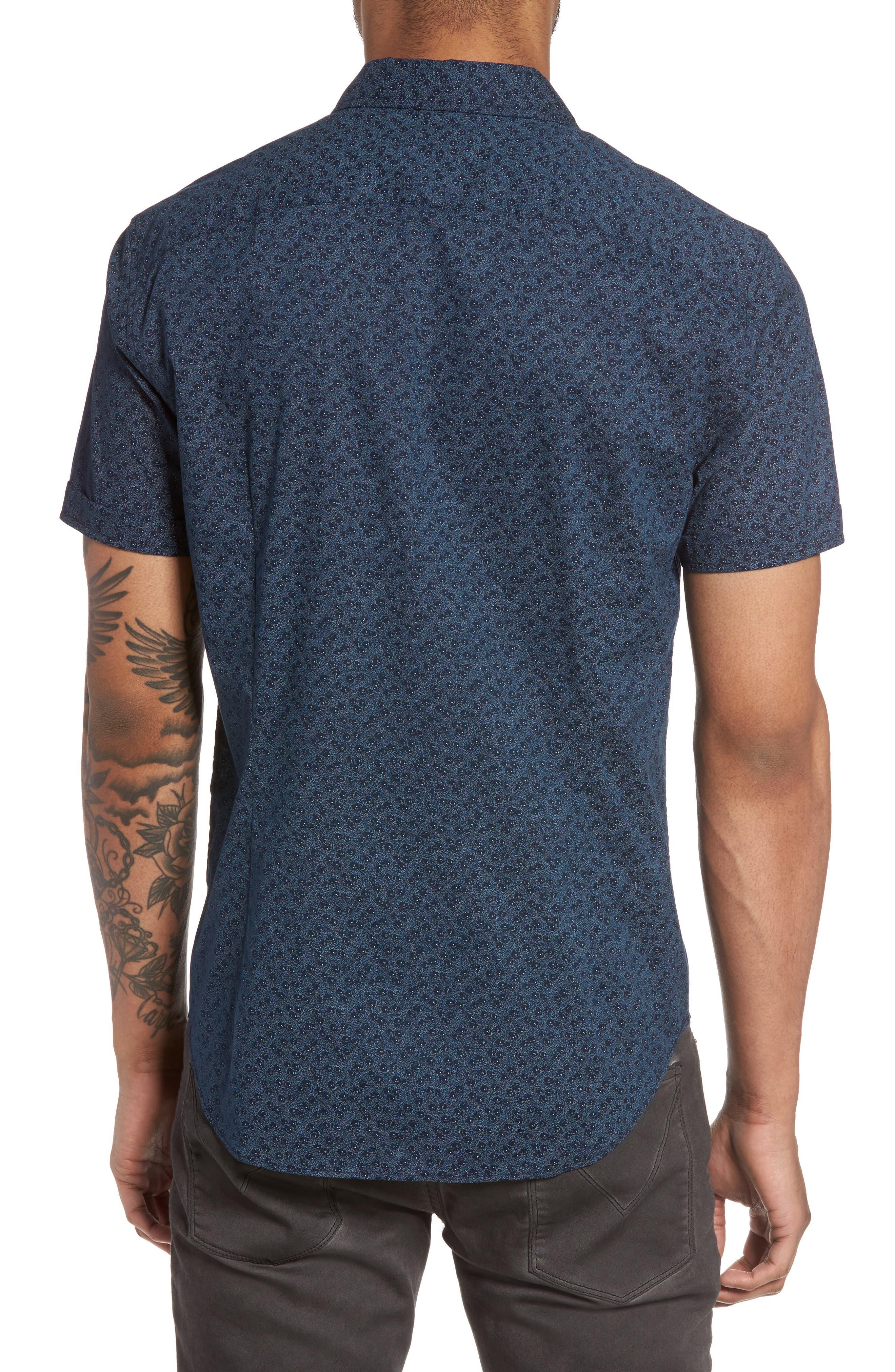 Print Sport Shirt,                             Alternate thumbnail 2, color,                             Indigo