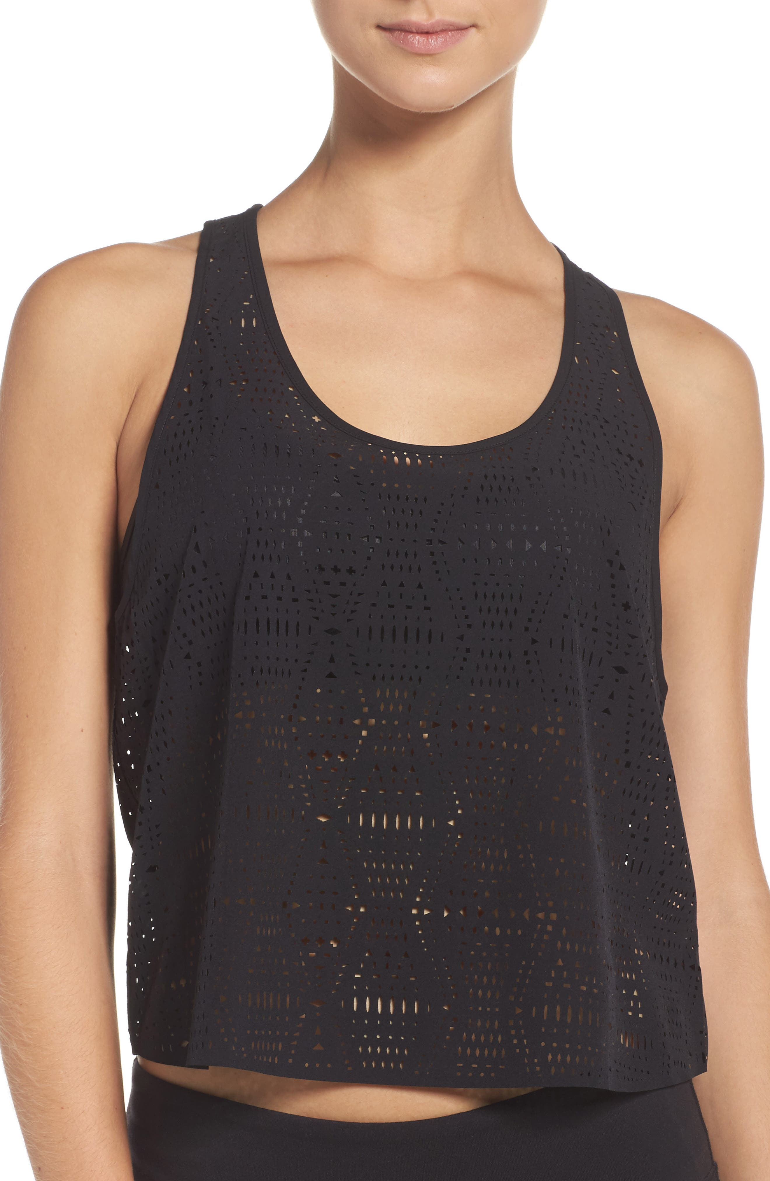 Alo Hollow Perforated Crop Tank