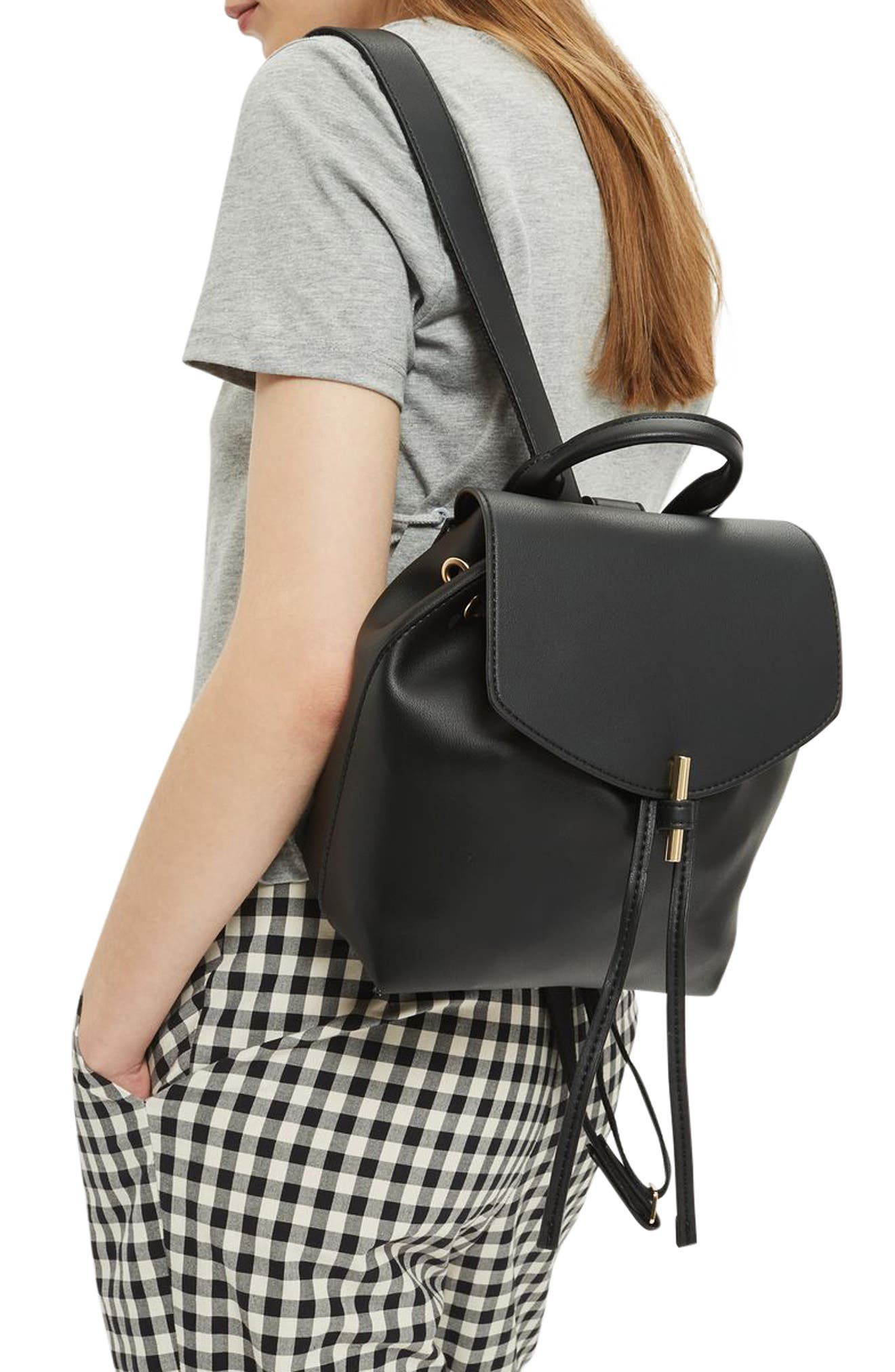 Alternate Image 2  - Topshop Blake Mini Faux Leather Backpack