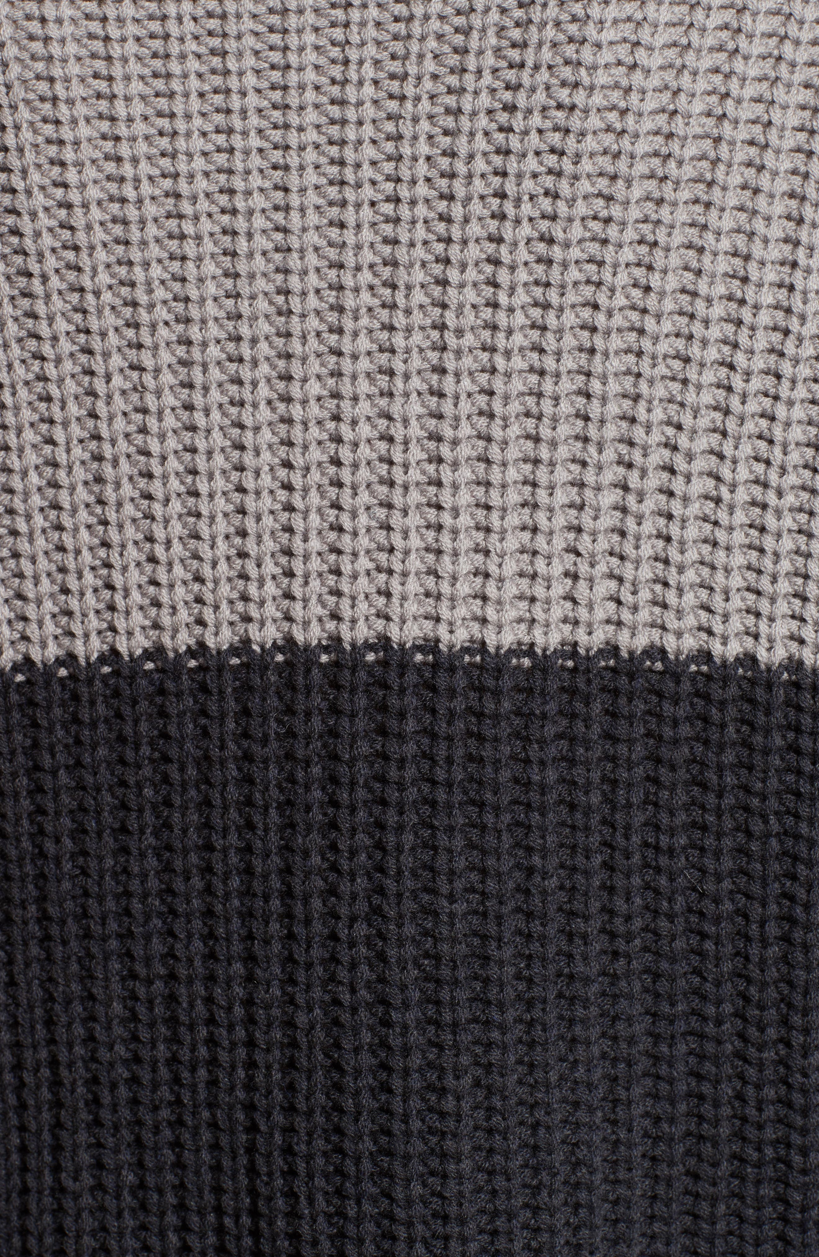 Ribbed Colorblock Sweater,                             Alternate thumbnail 3, color,                             Grey Multi