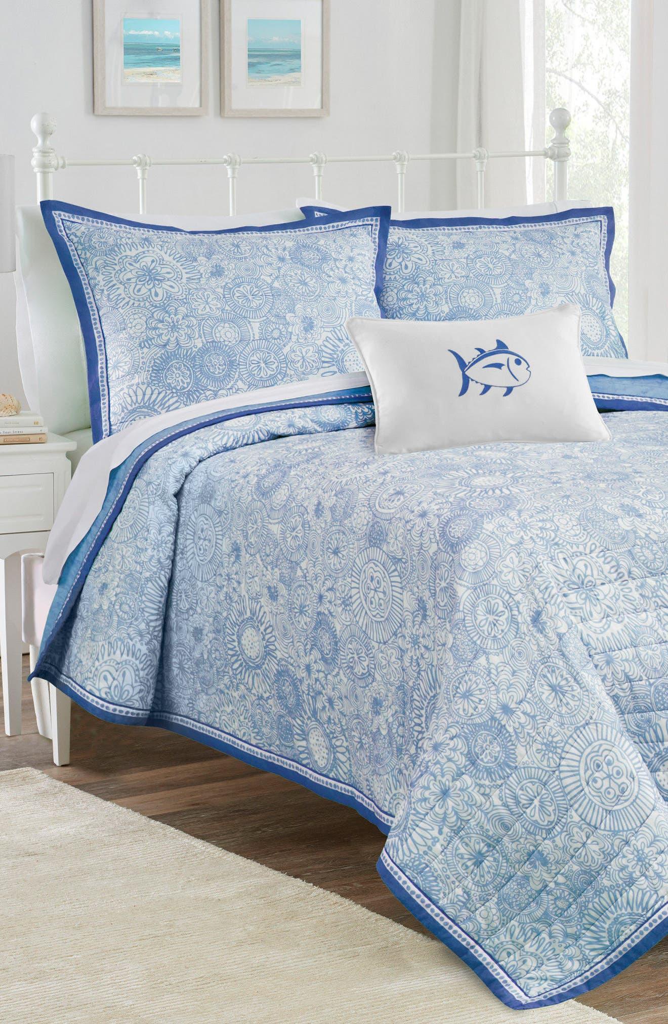 Seapine Quilt,                         Main,                         color, Sky Blue