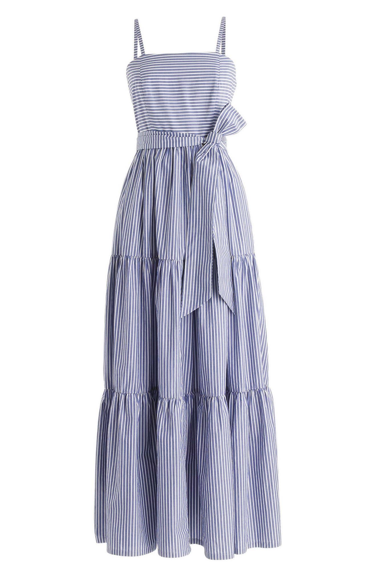 Alternate Image 4  - J.Crew Stripe Tiered Maxi Dress (Regular & Petite)