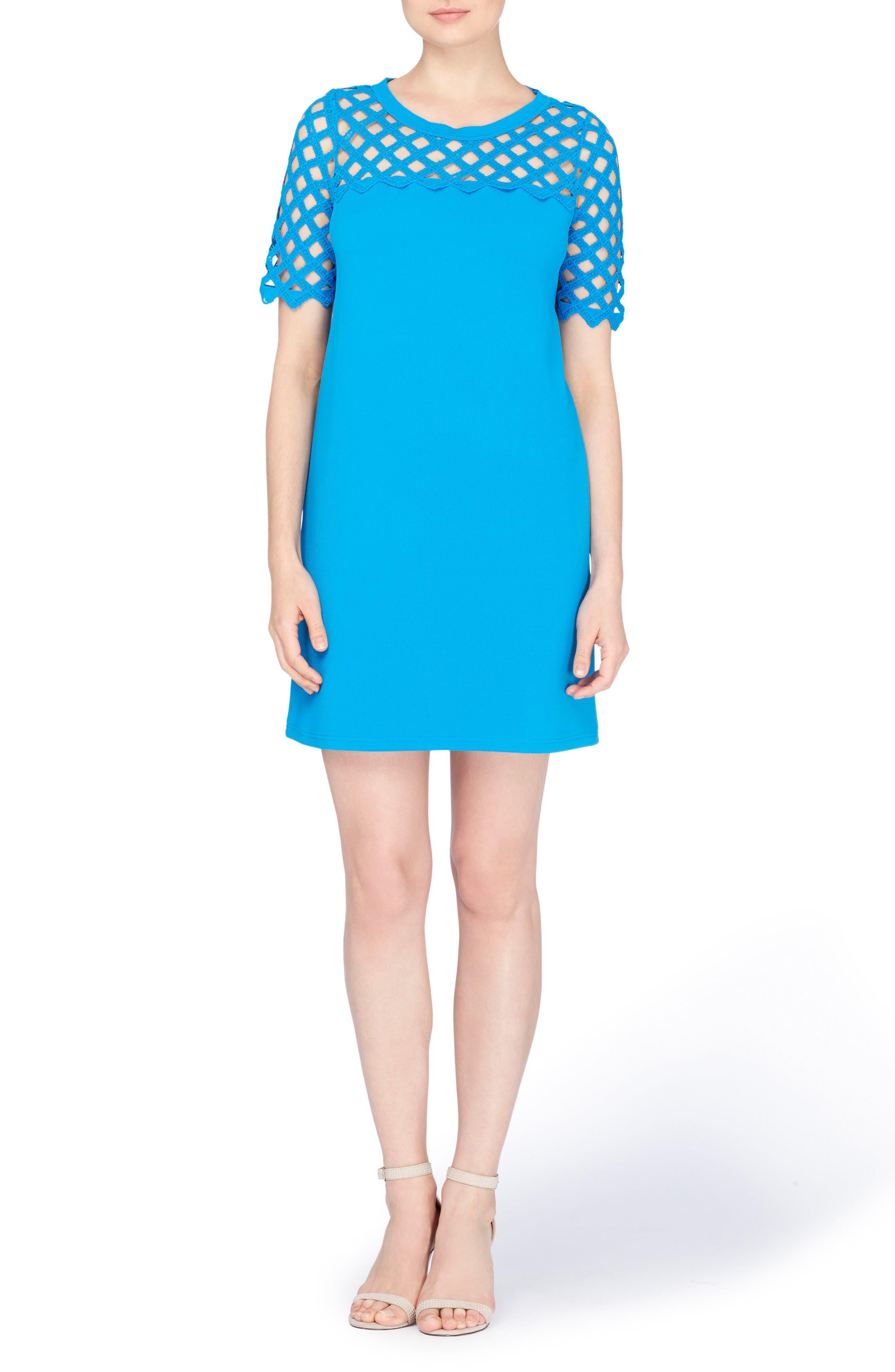 Rue Lattice Lace Shift Dress,                         Main,                         color, Cloisonne