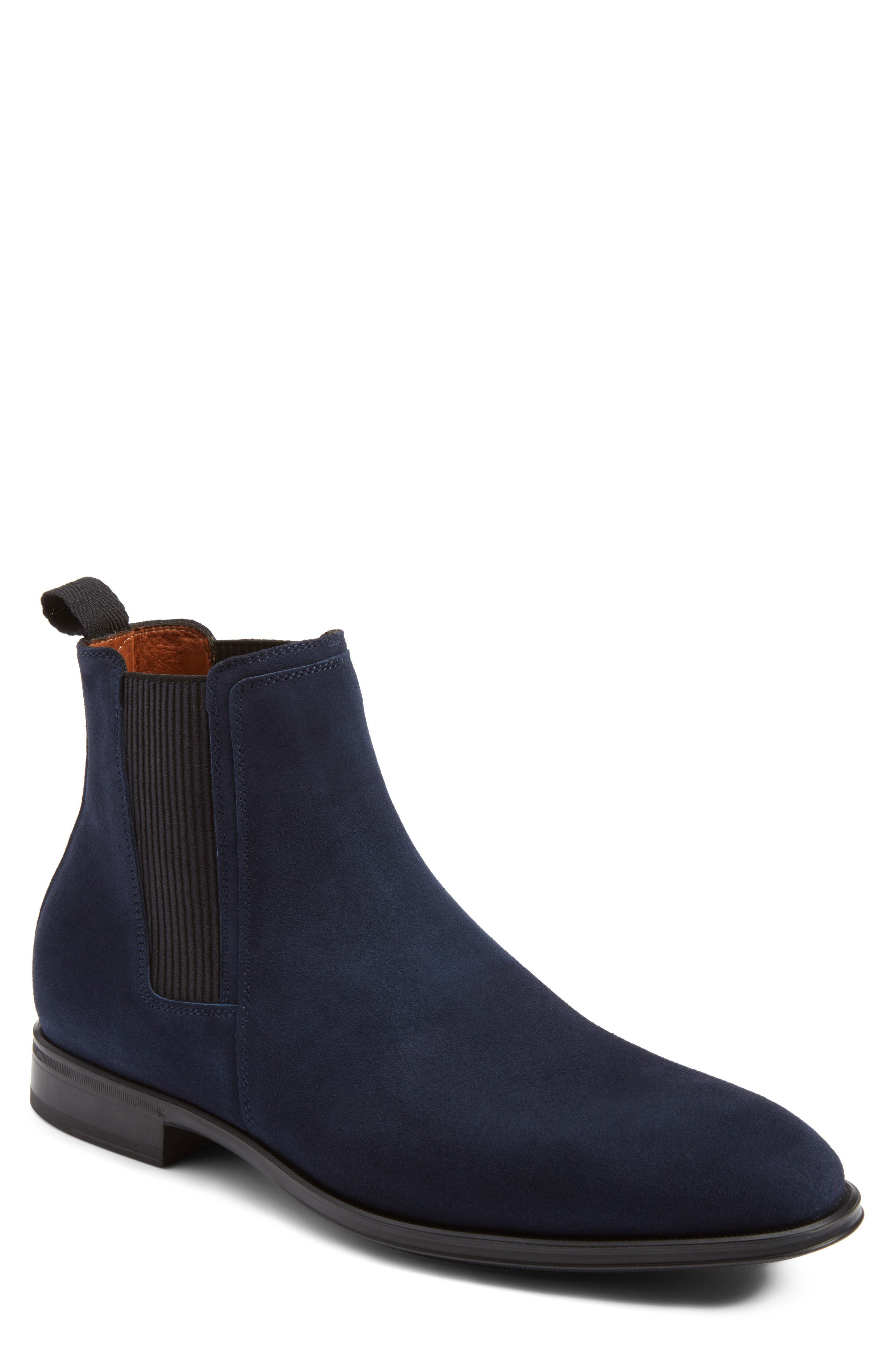 Damon Chelsea Boot,                         Main,                         color, Navy Suede