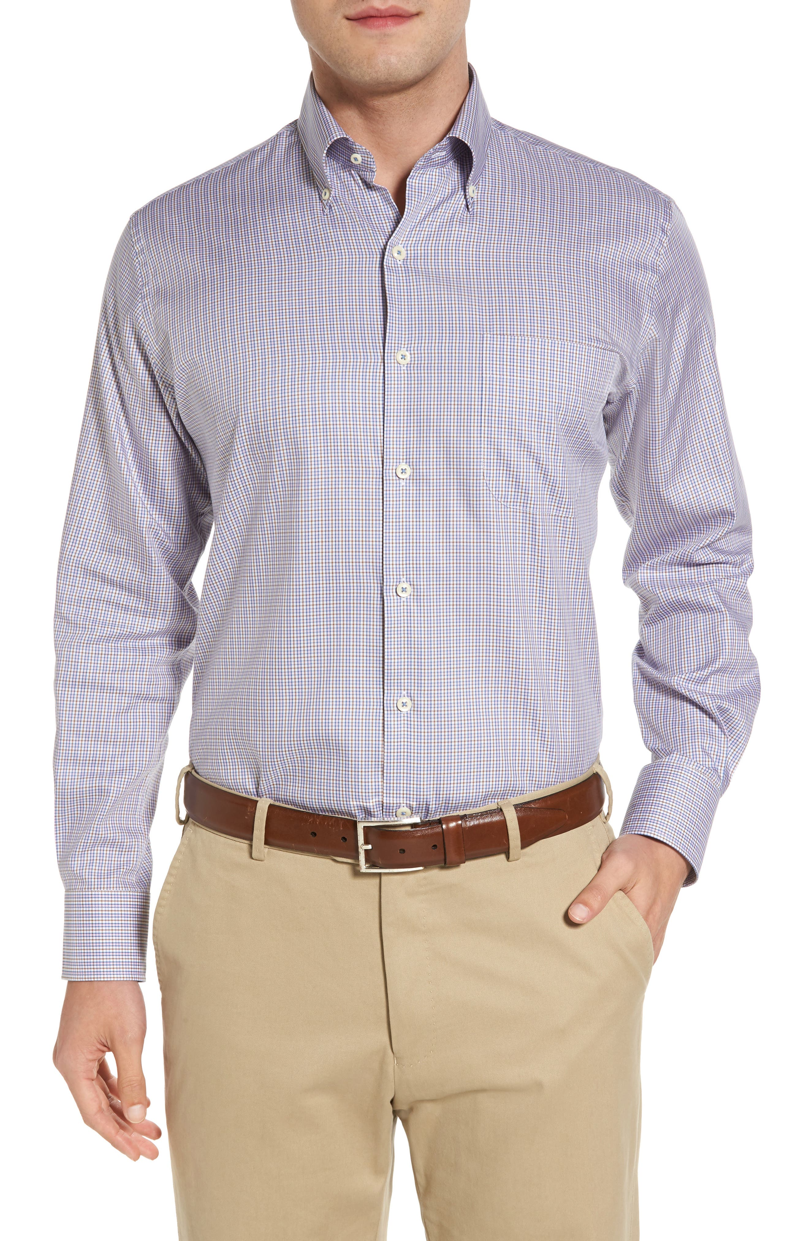 Peter Millar Crown Soft Port Check Sport Shirt