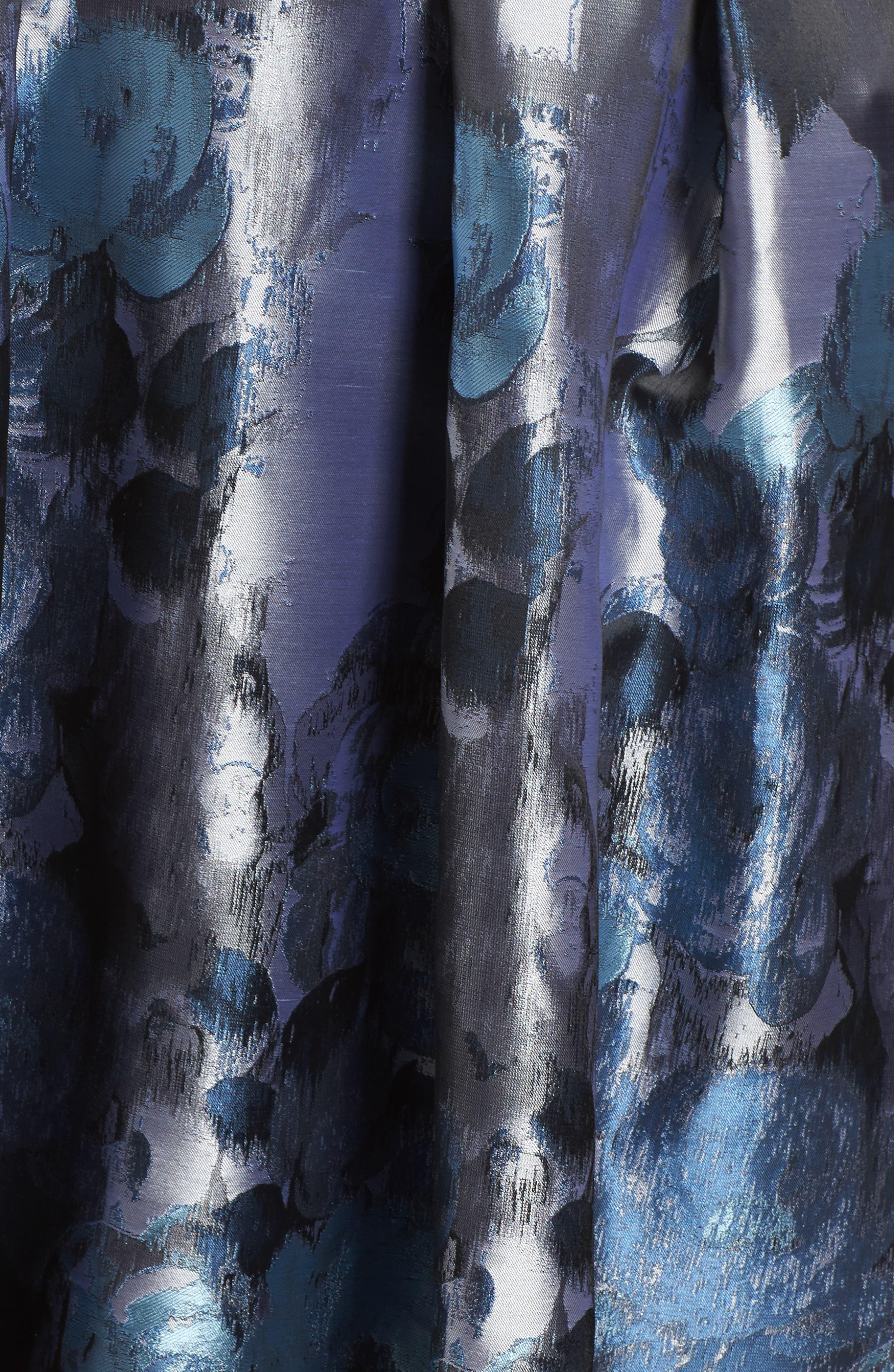Alternate Image 5  - Eliza J Jacquard High/Low Dress