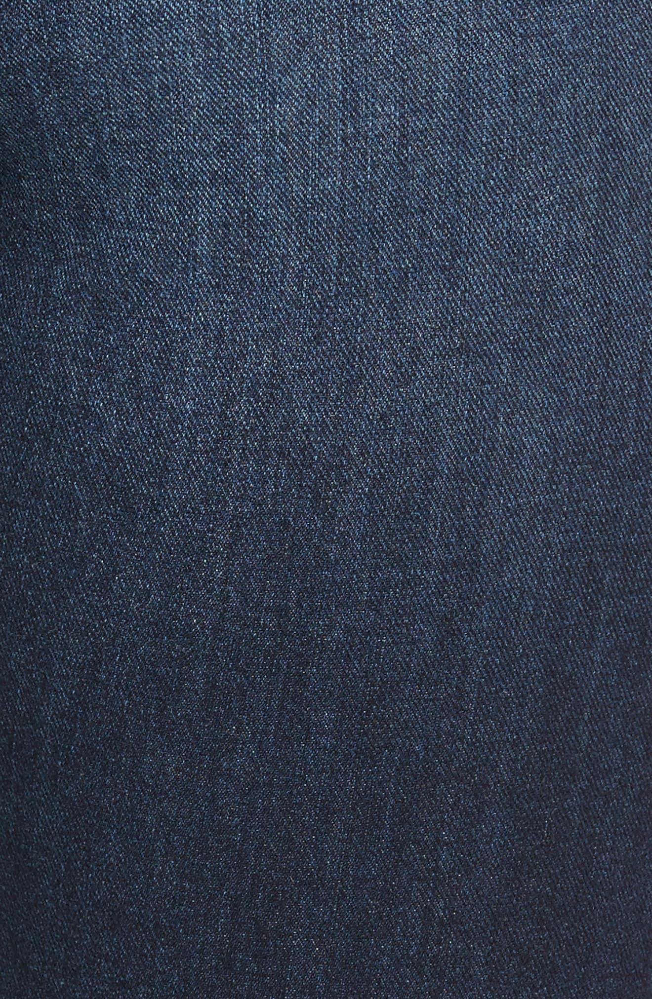 Alternate Image 5  - Leith Ripped Step Hem Skinny Jeans (Destroy Medium)