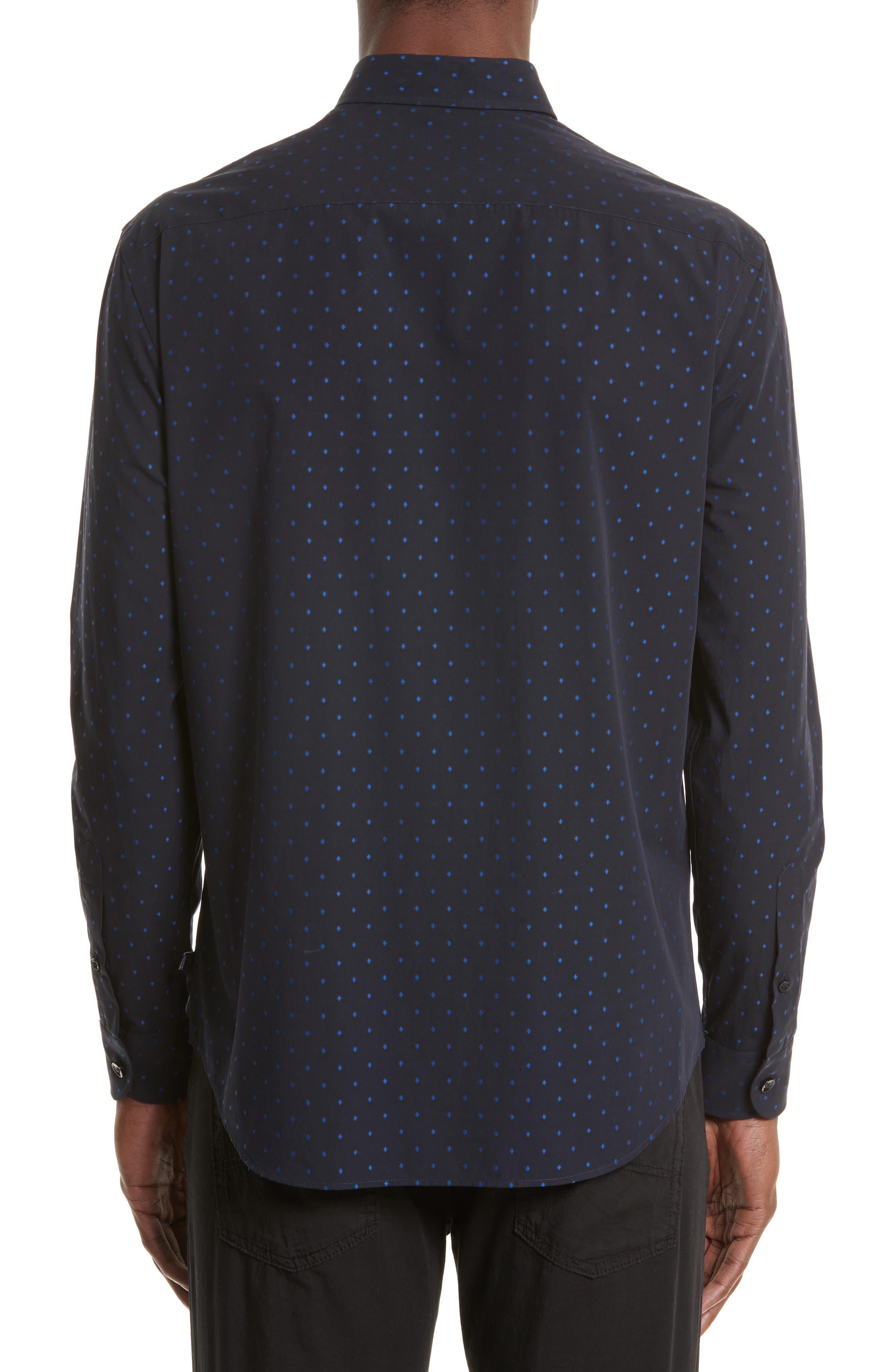 Alternate Image 2  - Armani Collezioni Fil Coupe Diamond Jacquard Sport Shirt