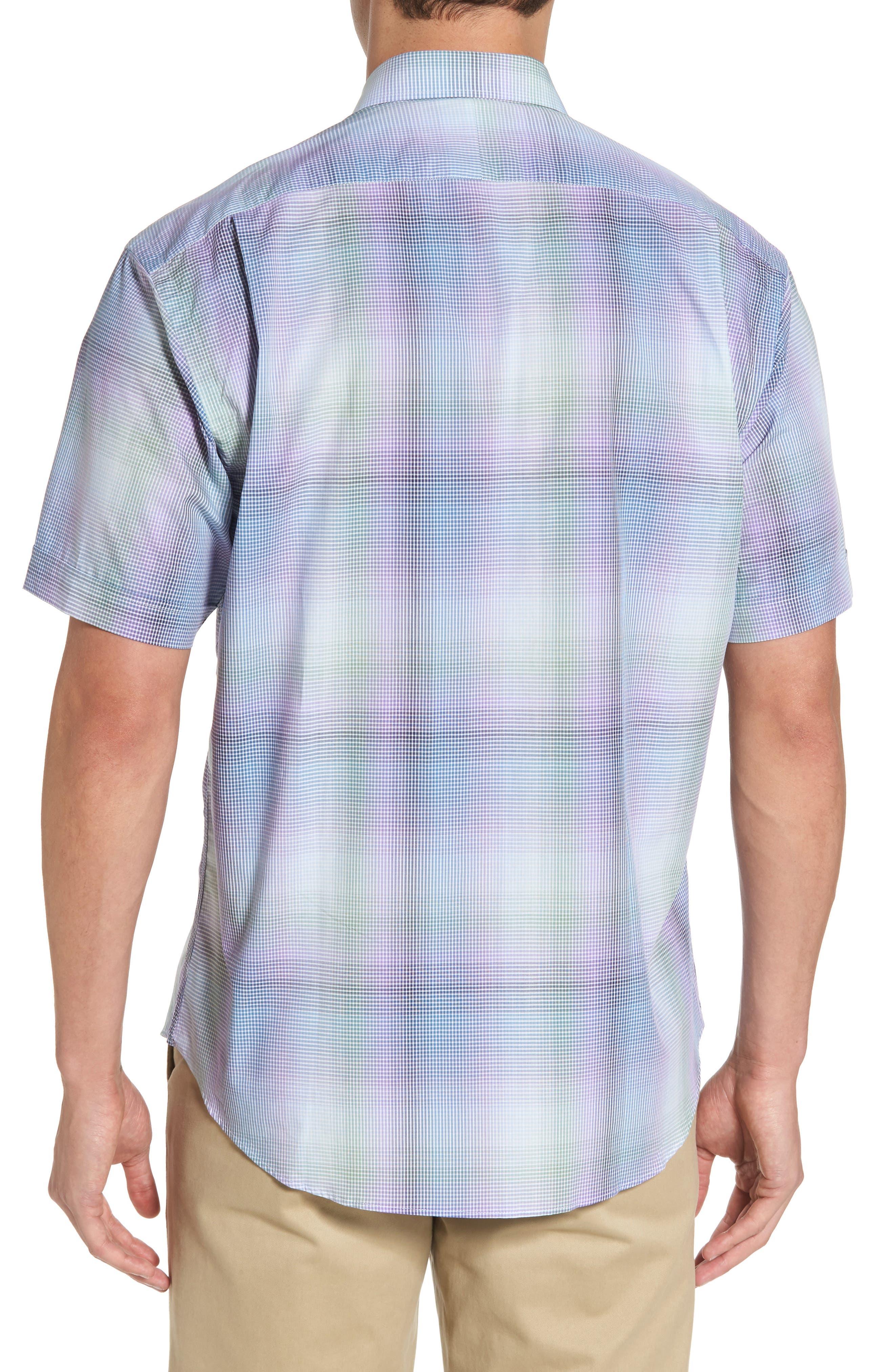 Alternate Image 2  - Thomas Dean Classic Fit Shadow Check Sport Shirt