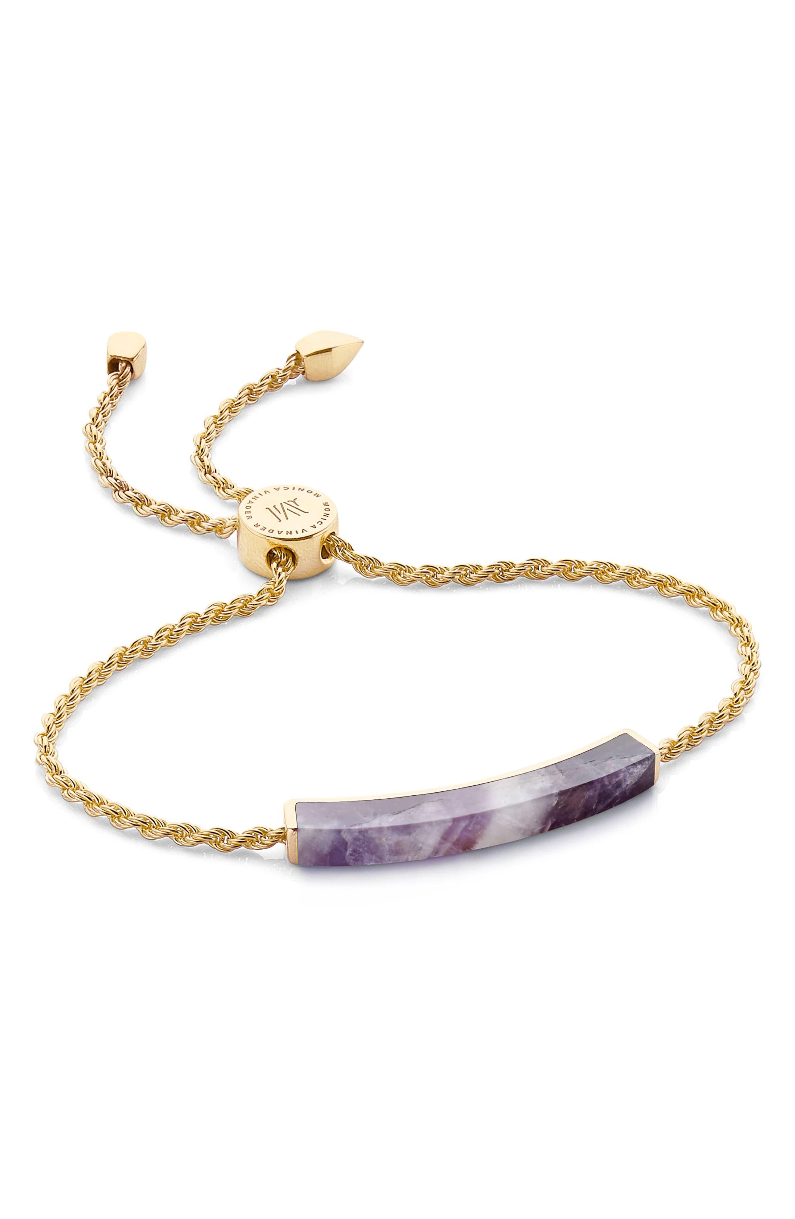 Alternate Image 1 Selected - Monica Vinader Linear Stone Friendship Bracelet