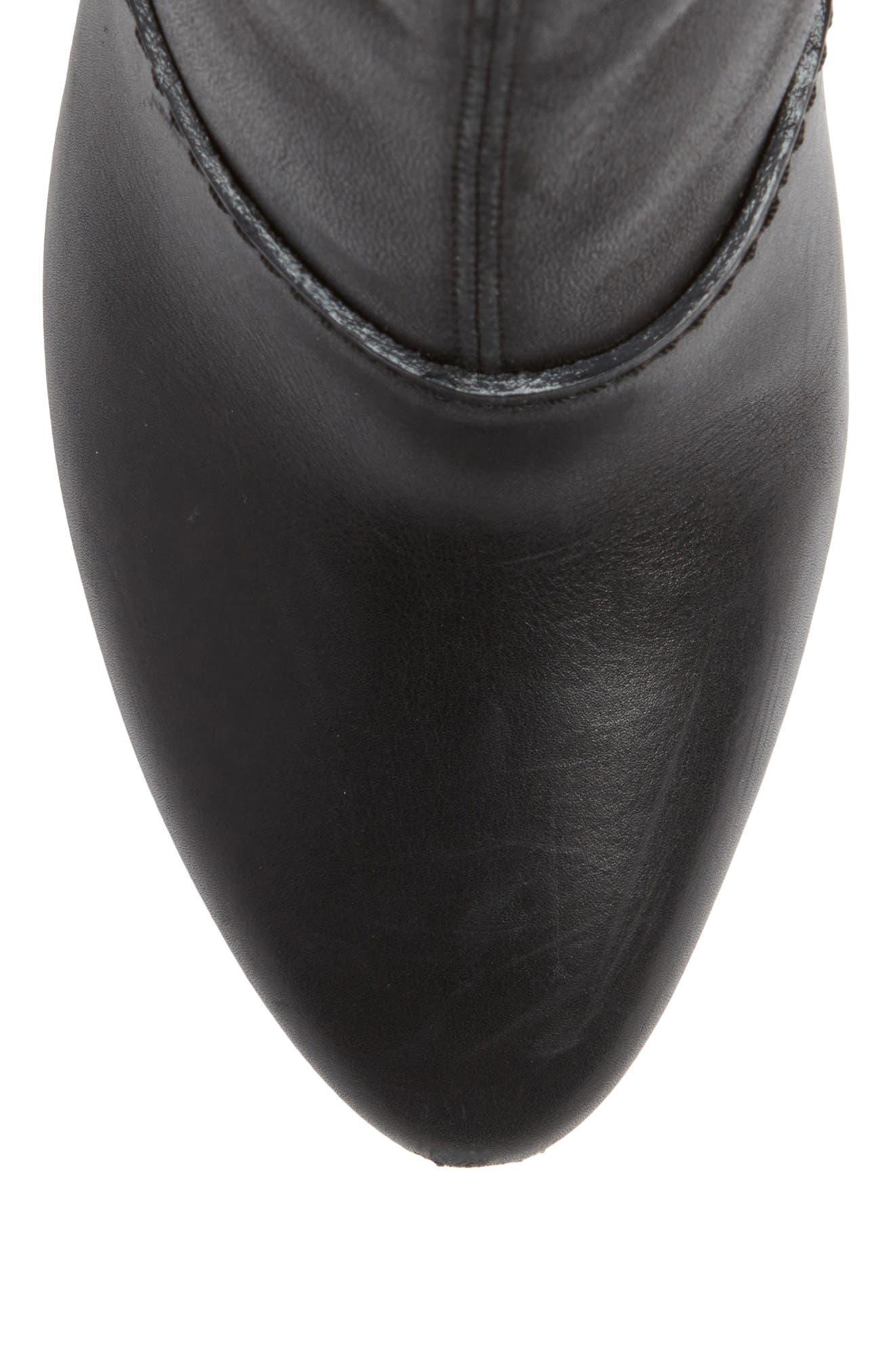 Kyoto Leather Bootie,                             Alternate thumbnail 5, color,                             Black