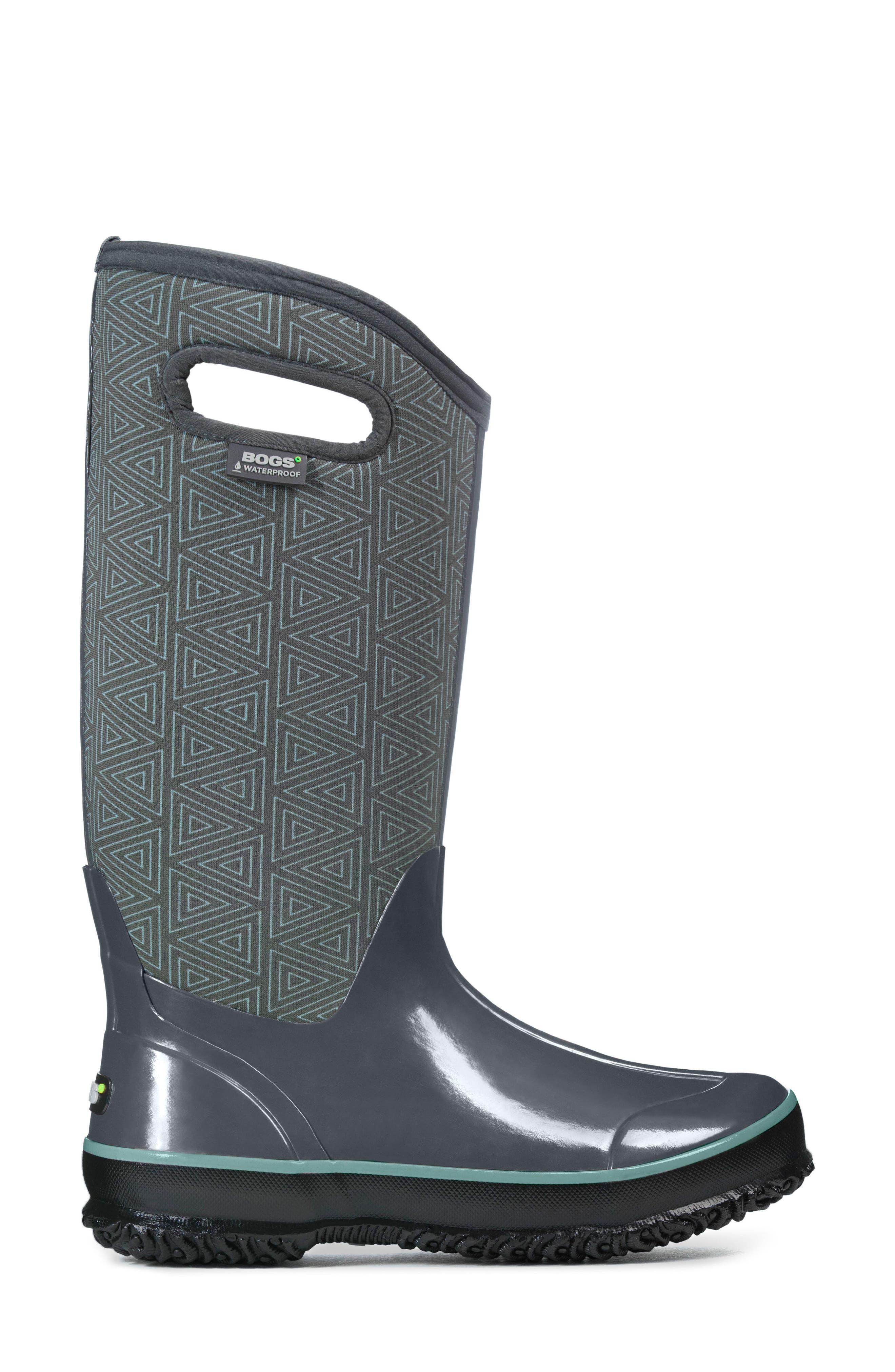 Classic Triangles Waterproof Subzero Insulated Boot,                             Alternate thumbnail 3, color,                             Dark Grey Multi