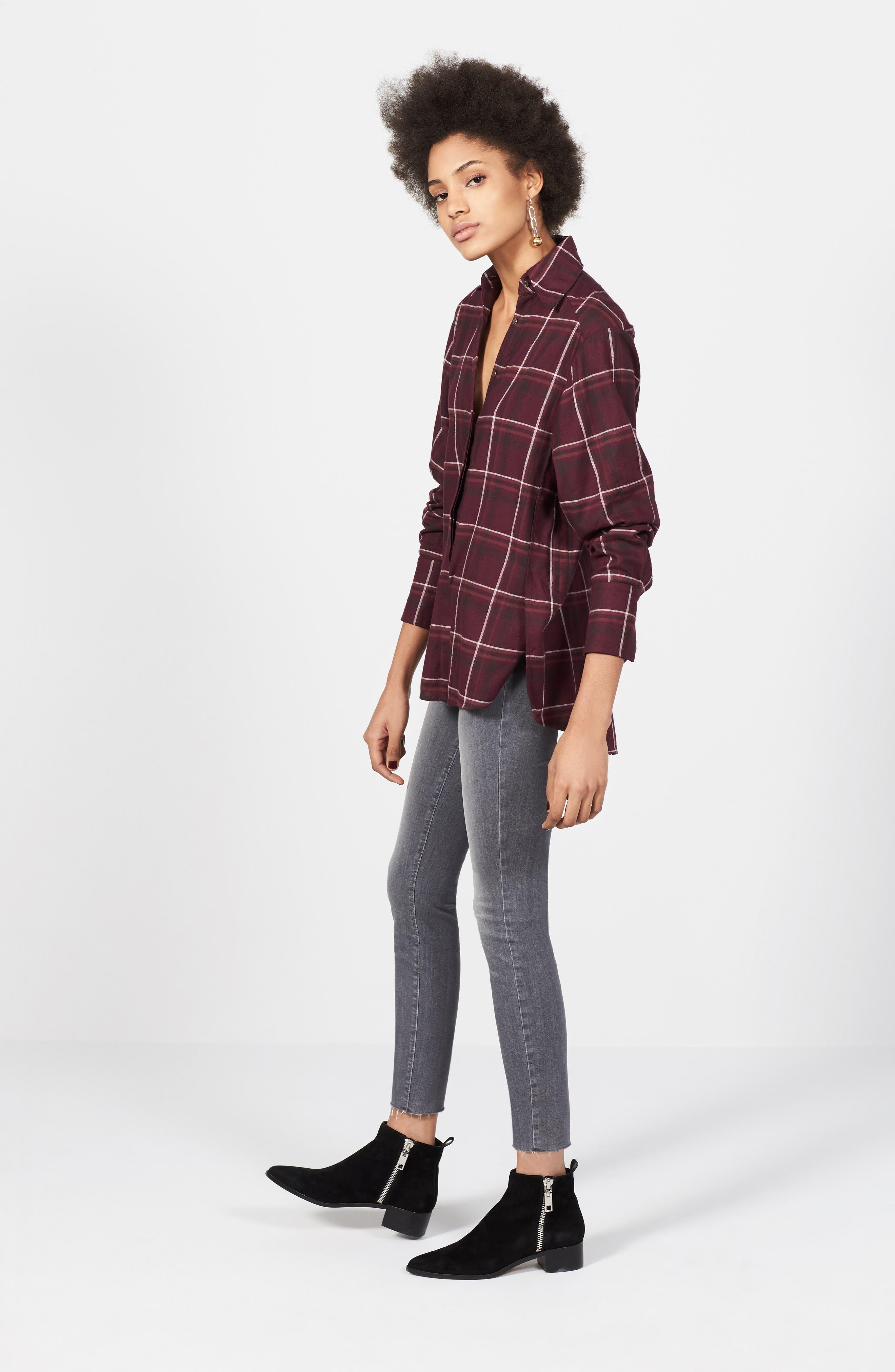 Alternate Image 2  - PAIGE Verdugo Raw Hem Ankle Skinny Jeans (Sea Salt)