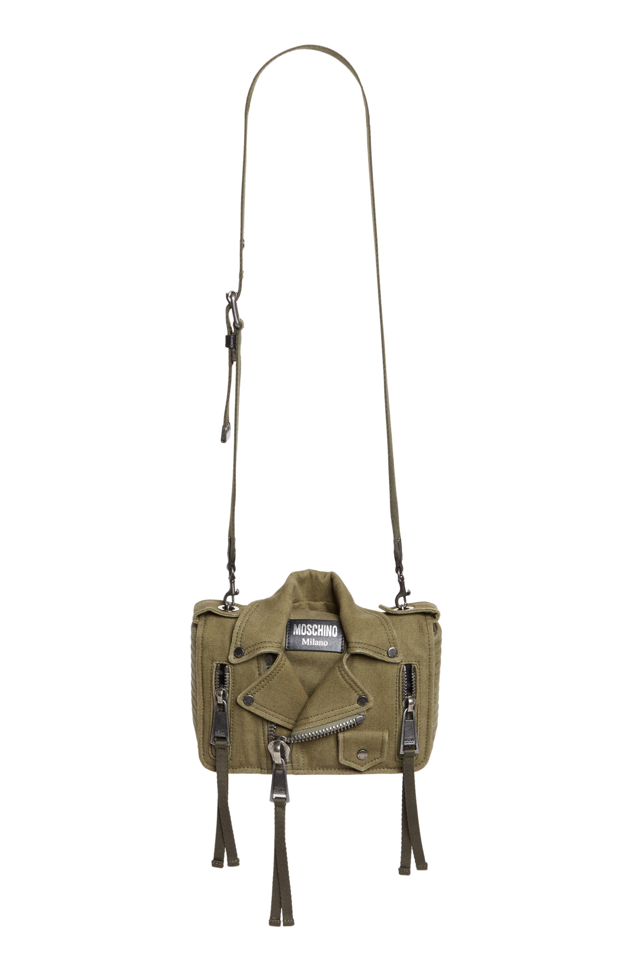 Moschino Small Biker Jacket Shoulder Bag
