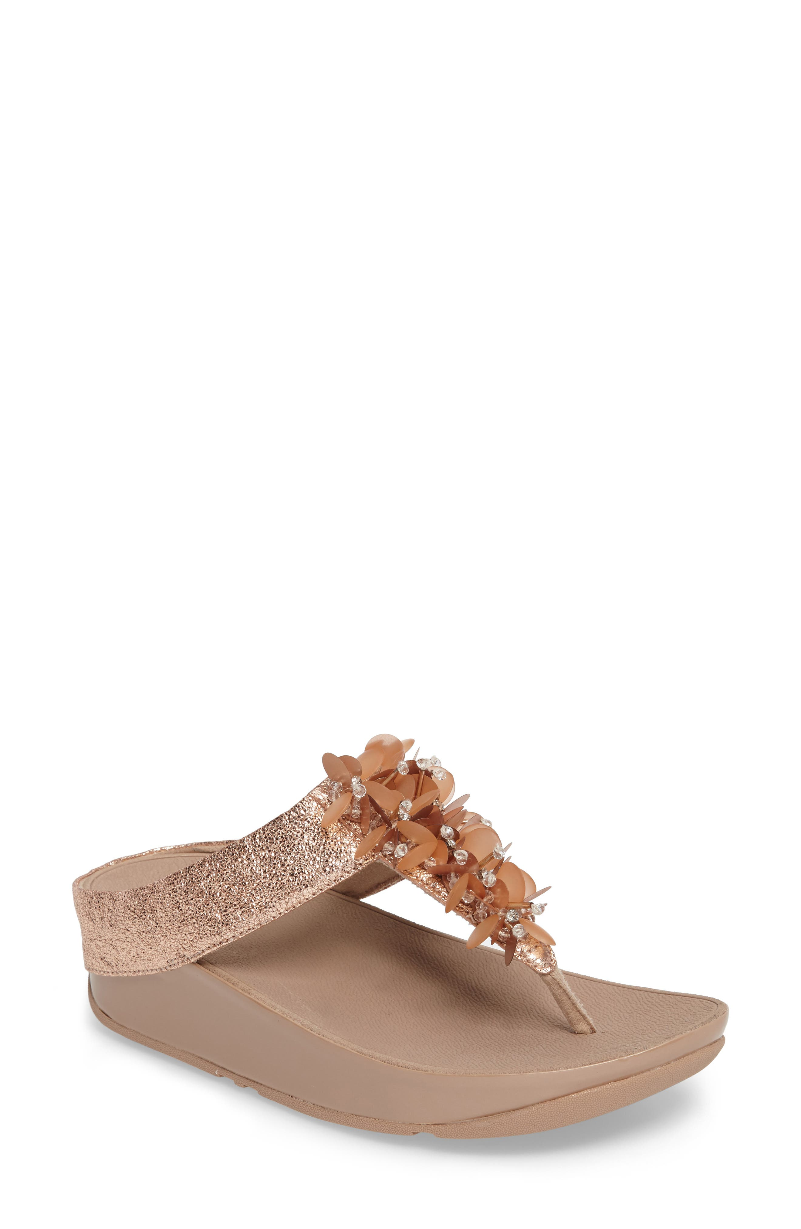 Boogaloo Sandal,                         Main,                         color, Rose Gold Leather