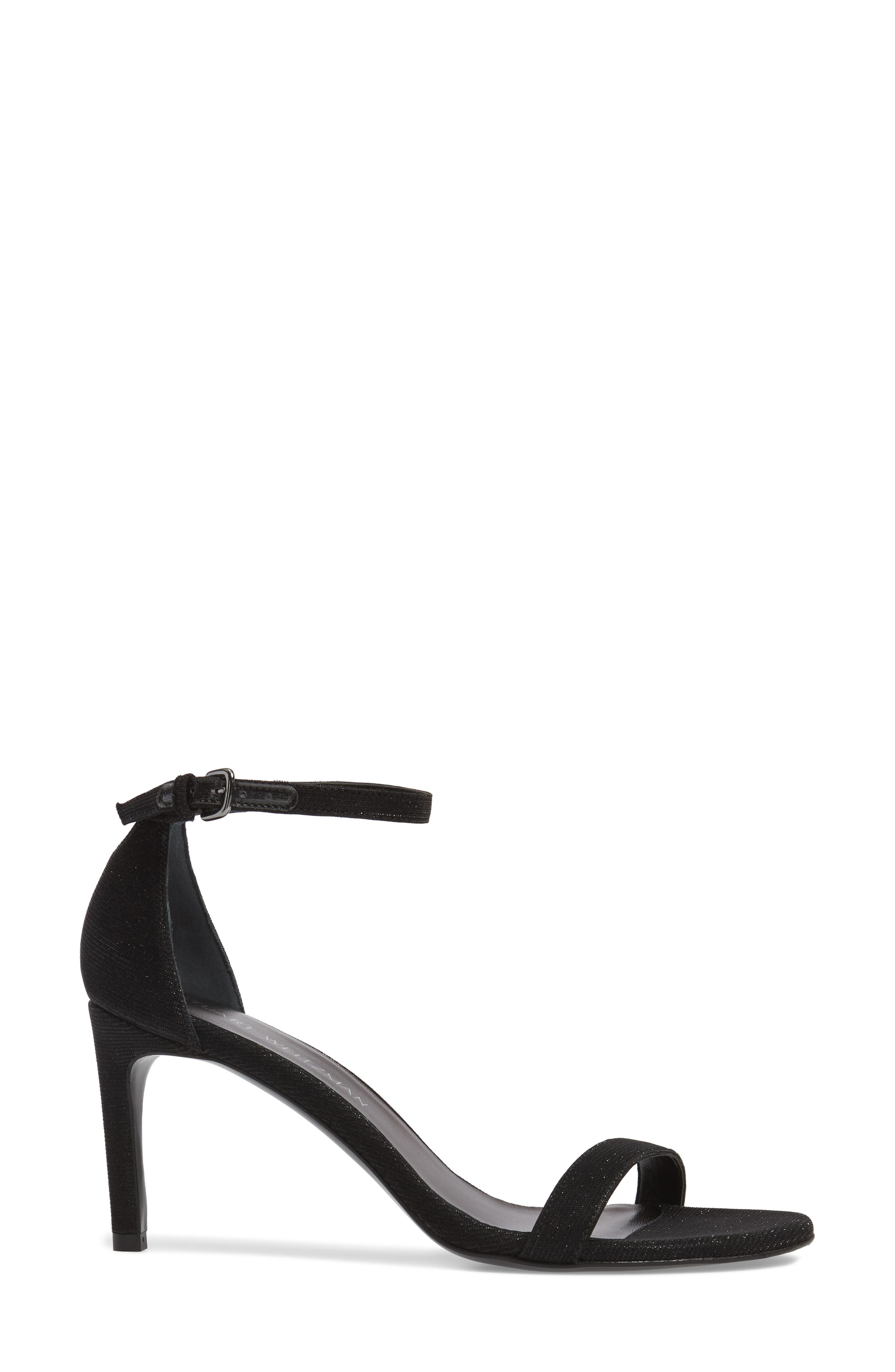 'Nunaked' Leather Ankle Strap Sandal,                             Alternate thumbnail 4, color,                             Nero Nocturn Nappa