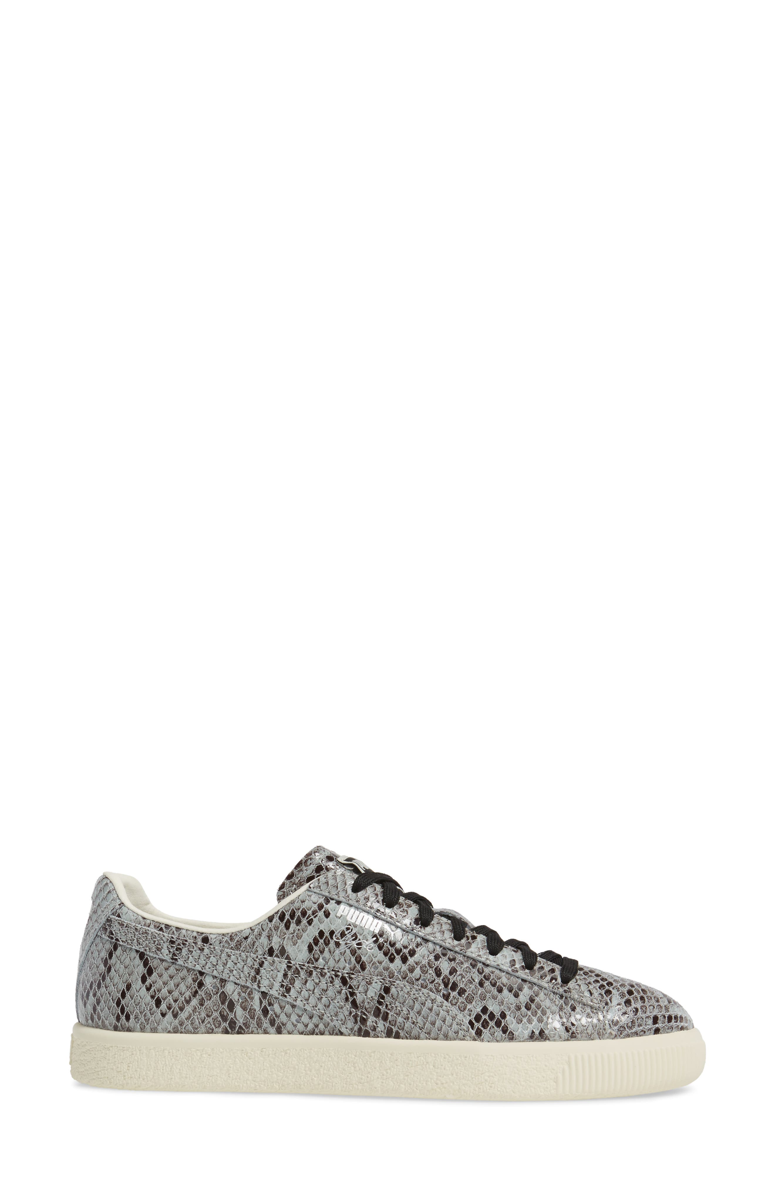 Clyde Sneaker,                             Alternate thumbnail 3, color,                             Puma Silver