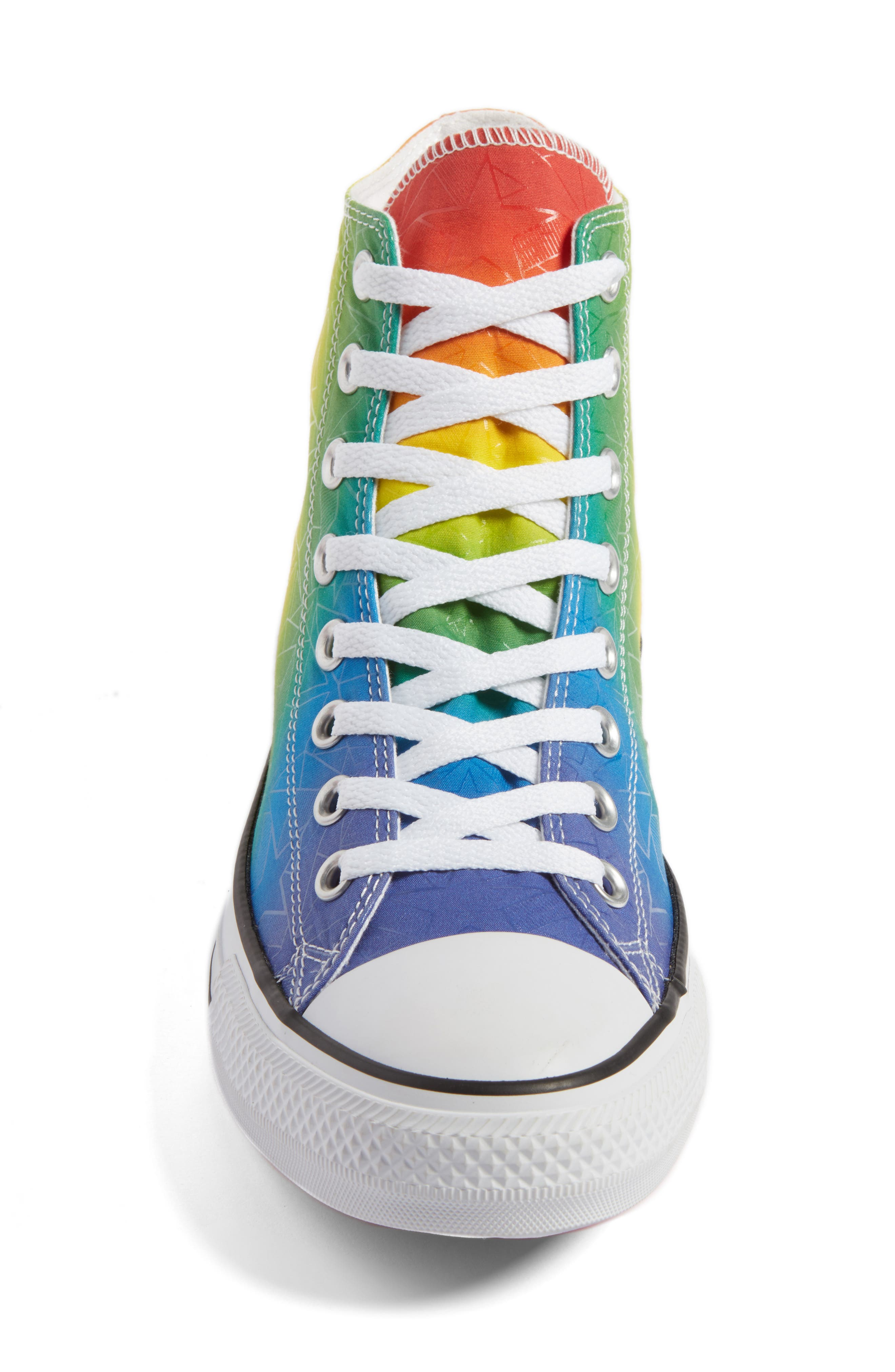 Chuck Taylor<sup>®</sup> All Star<sup>®</sup> Pride High Top Sneaker,                             Alternate thumbnail 4, color,                             Purple