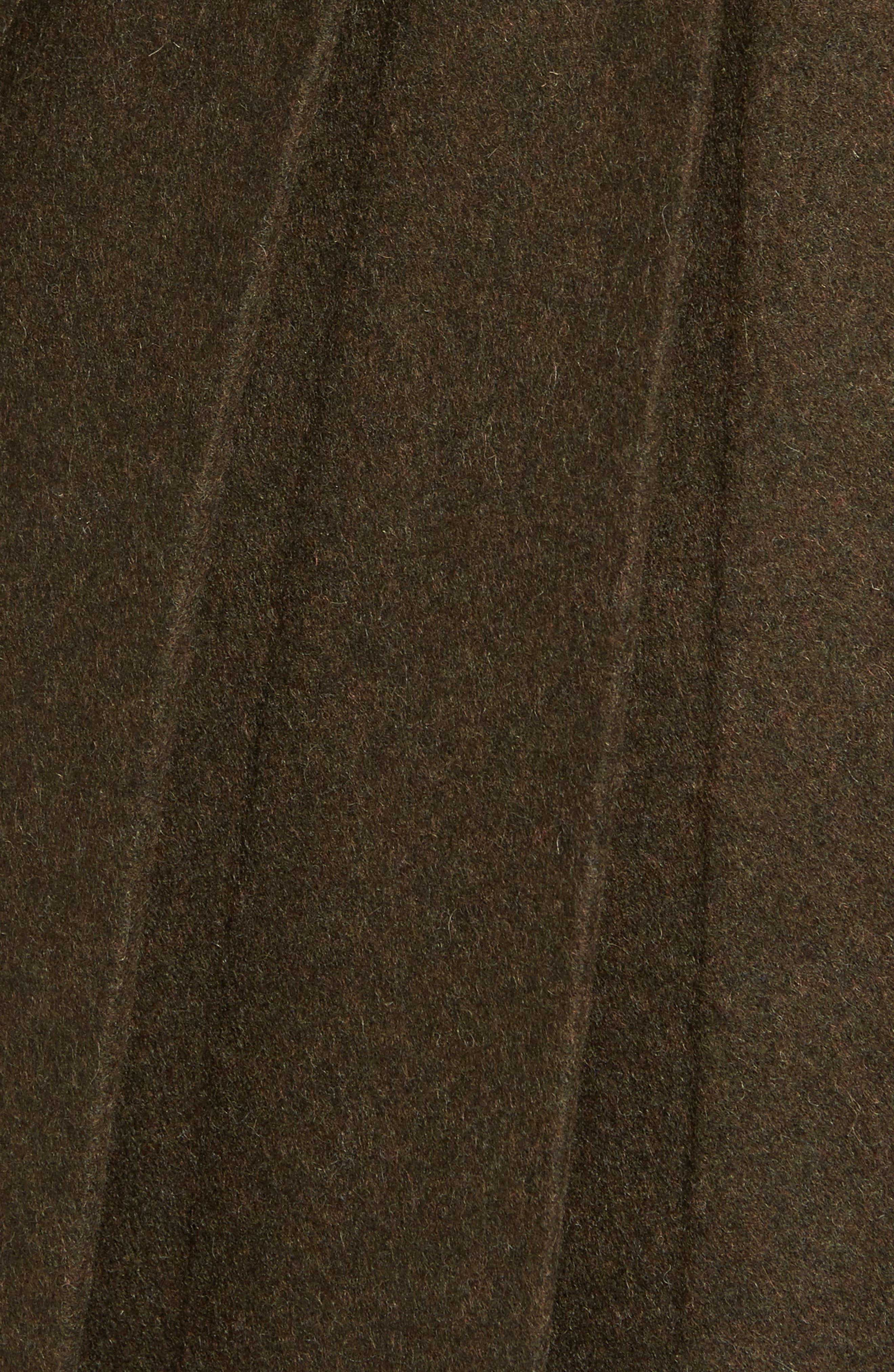 Wool Blend Skirted Military Coat,                             Alternate thumbnail 5, color,                             Olive