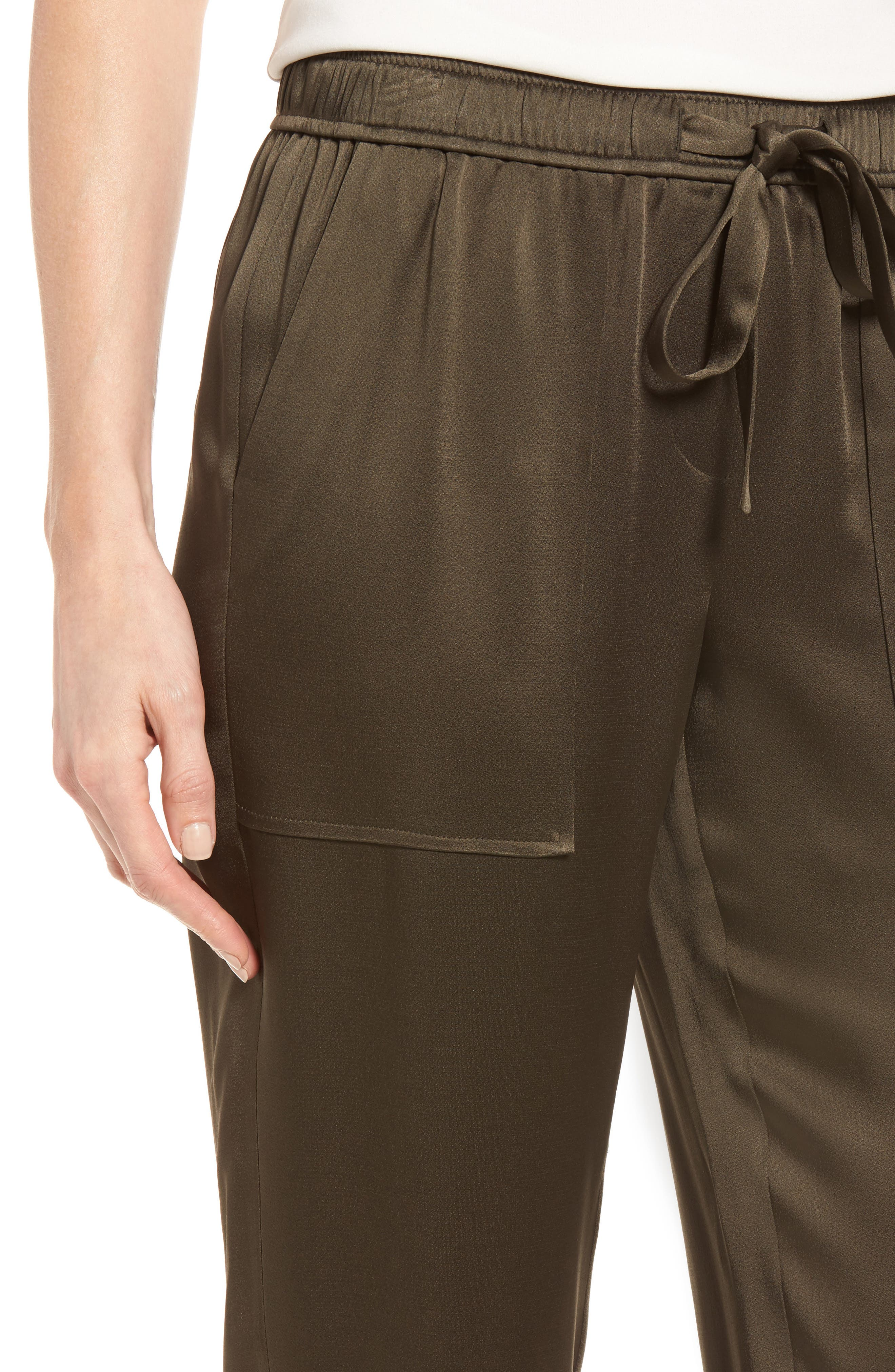 Alternate Image 4  - Nordstrom Signature Satin Jogger Pants