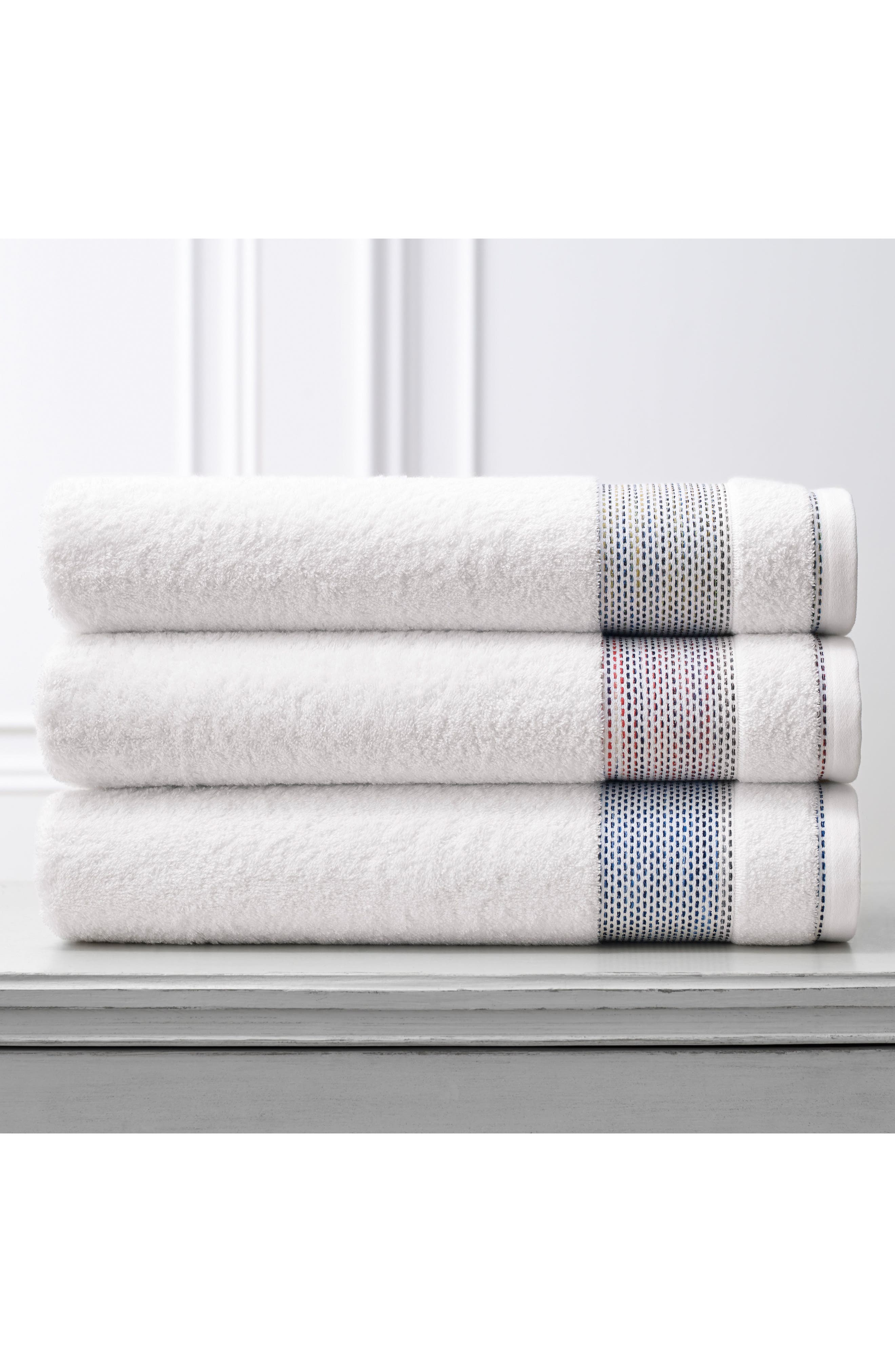 Carnaby Bath Towel,                             Alternate thumbnail 2, color,                             Coral