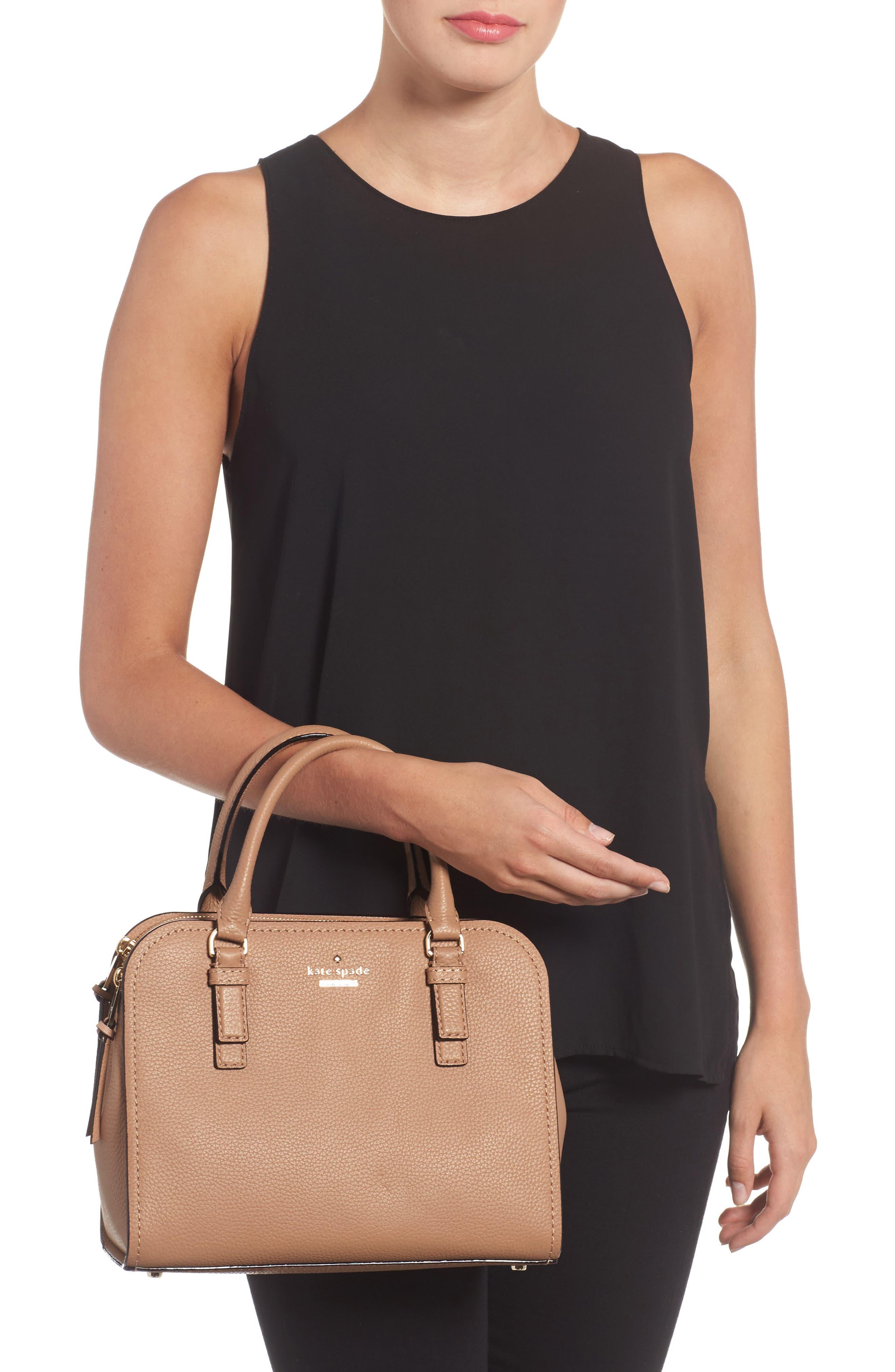 jackson street small kiernan leather top handle satchel,                             Alternate thumbnail 2, color,                             Hazel