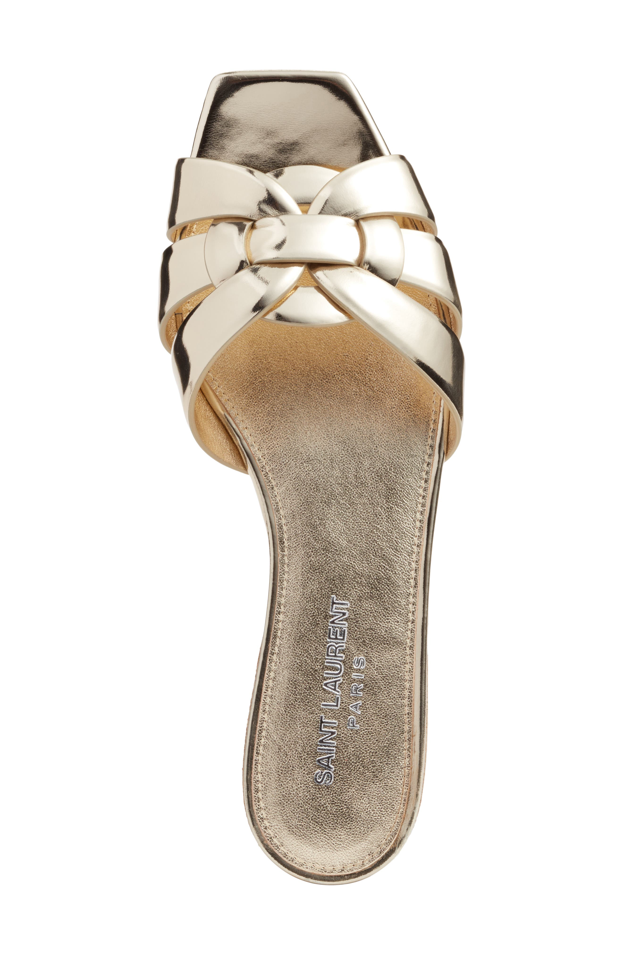 Tribute Slide Sandal,                             Alternate thumbnail 5, color,                             Metallic Gold